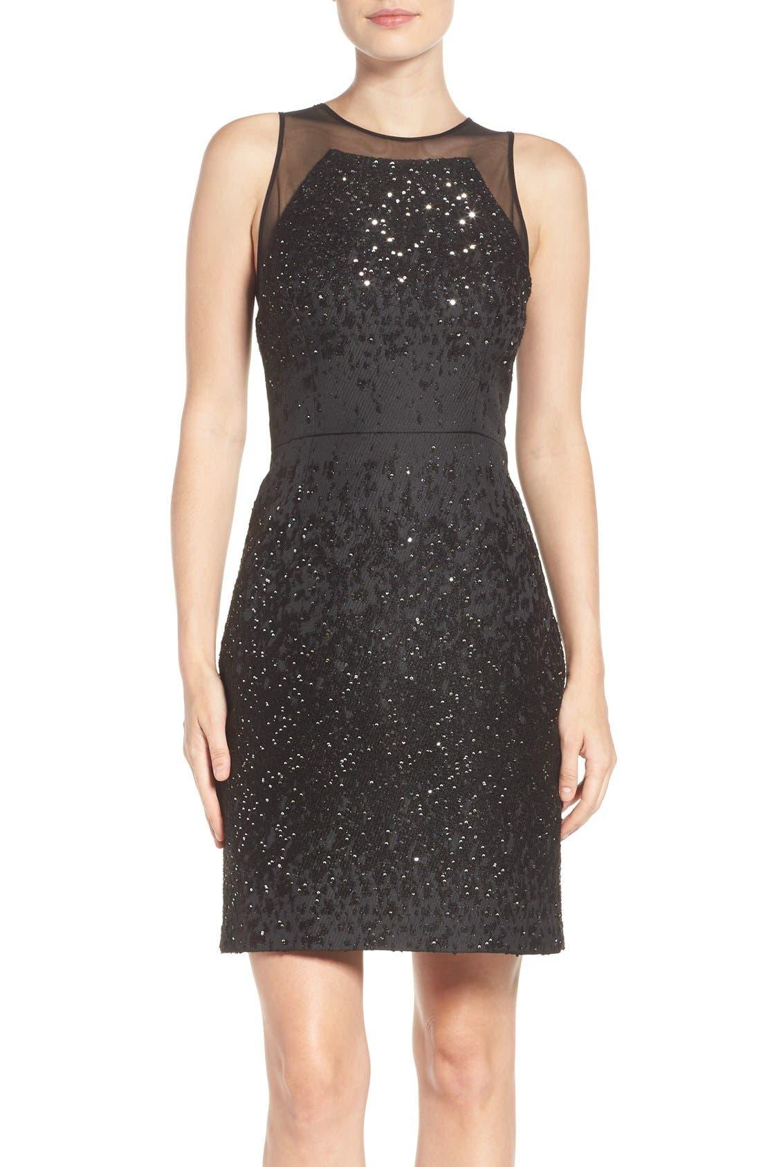 Alternate Image 1 Selected - Vera Wang Metallic Sheath Dress