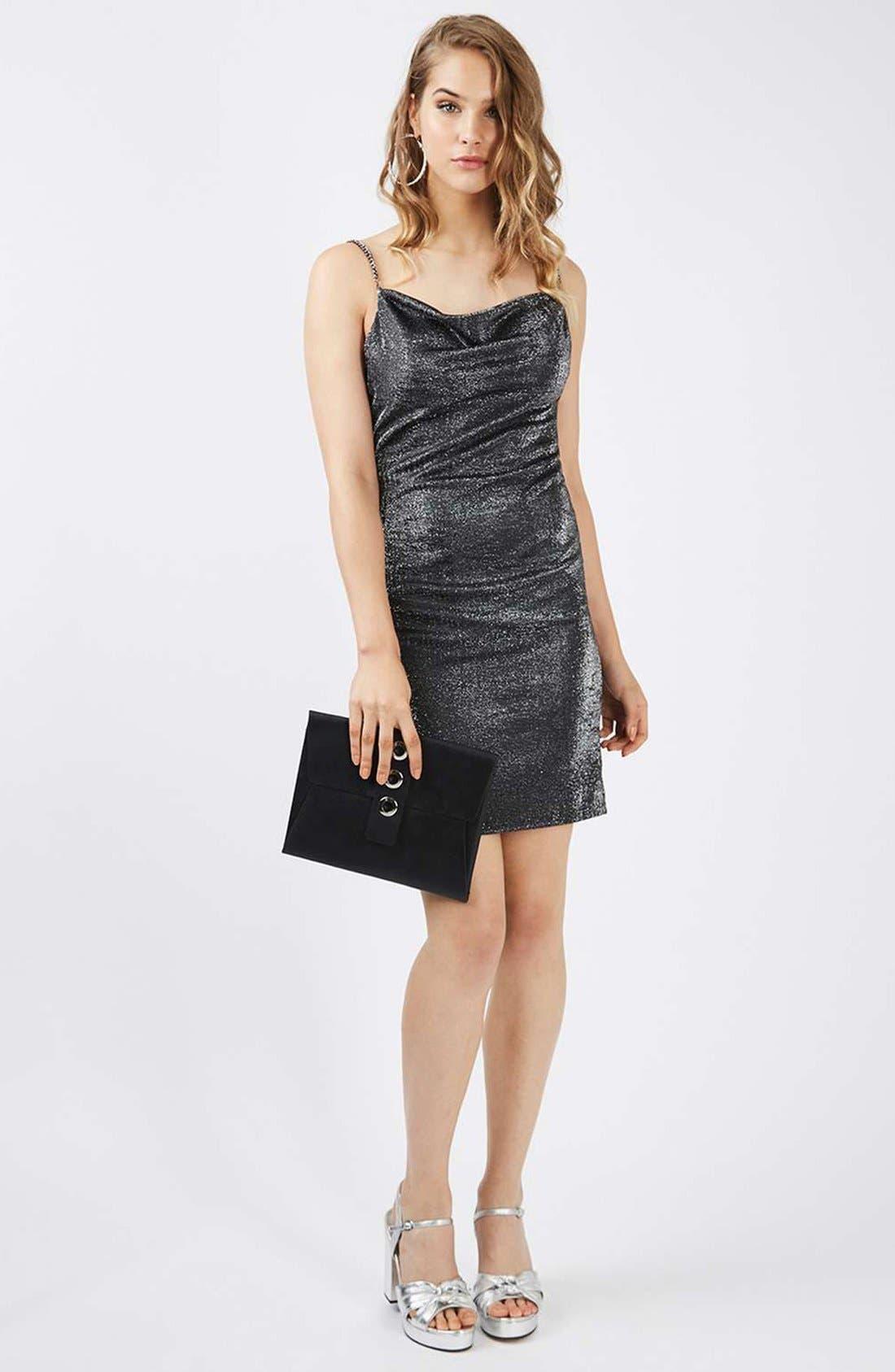 Alternate Image 2  - Topshop Sparkle Body-Con Dress