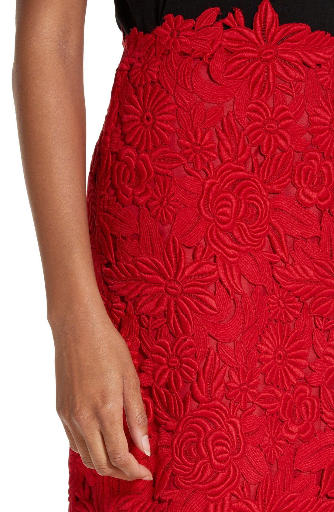 Alternate Image 5  - Valentino Guipure Lace Midi Skirt