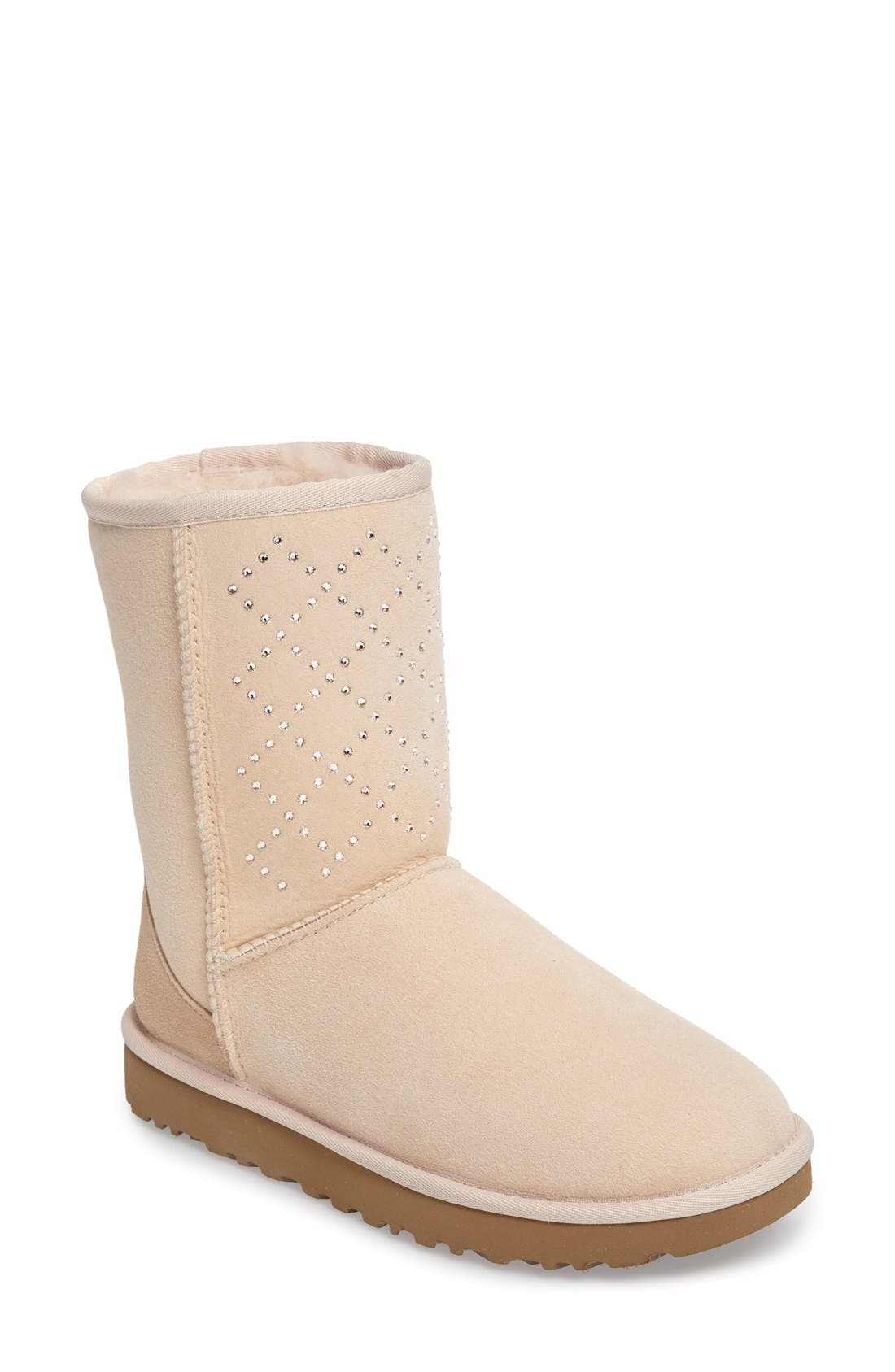 Main Image - UGG® Classic Short - Crystal Genuine Shearling Lined Boot (Women)
