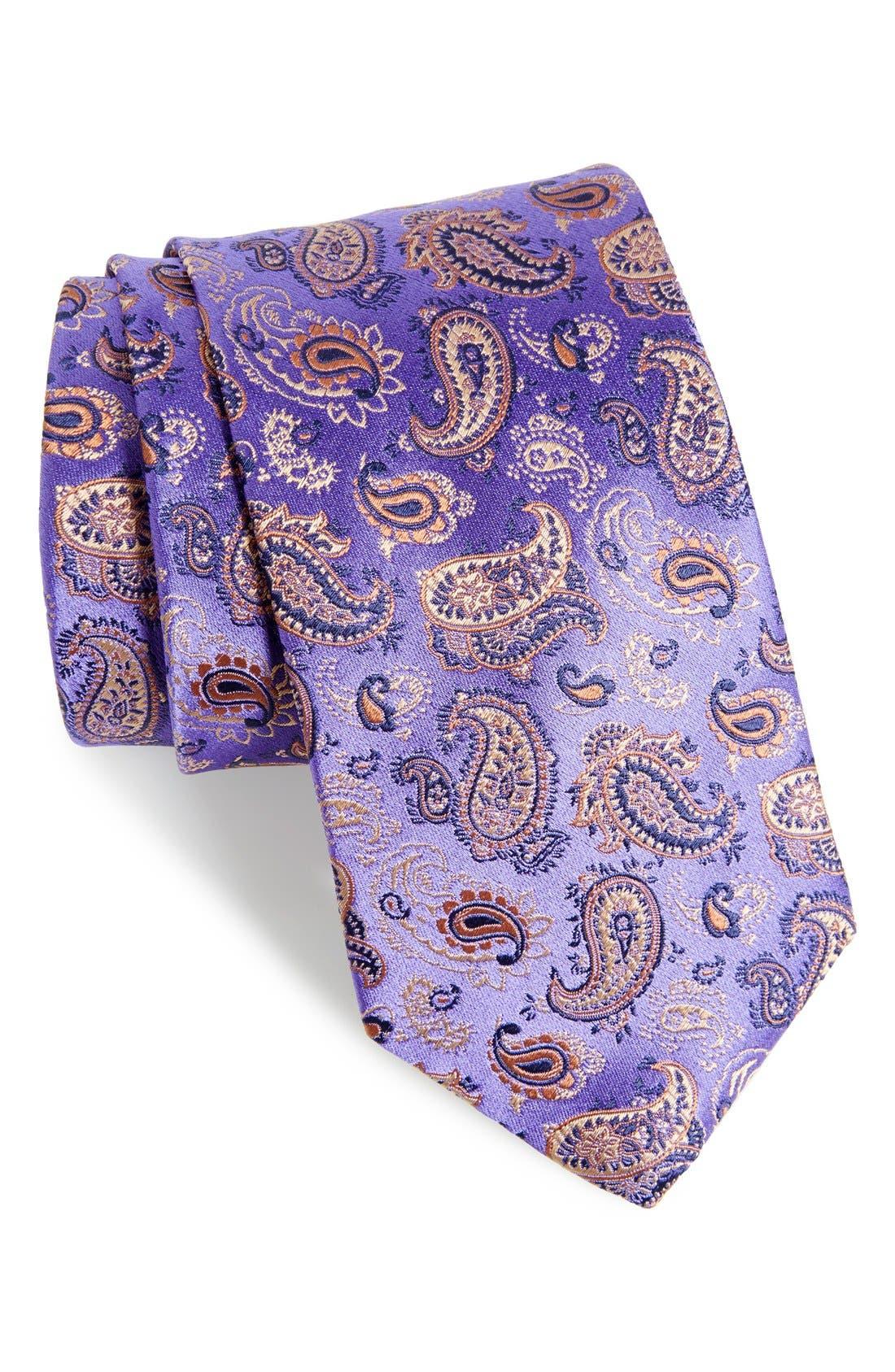 Alternate Image 1 Selected - Eton Paisley Silk Tie