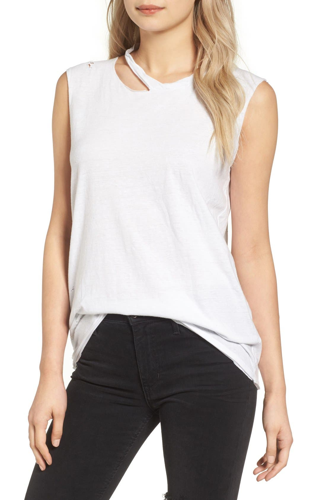 Pam & Gela Slash Neck Muscle Tee
