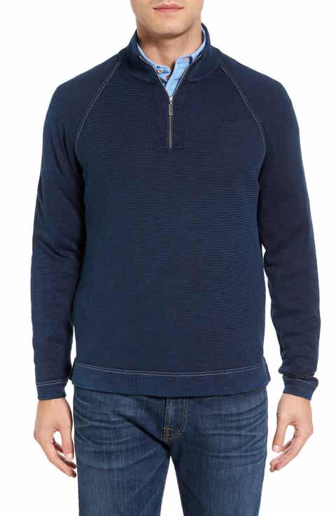 Tommy Bahama Saltwater Tide Half Zip Pullover (Big   Tall)