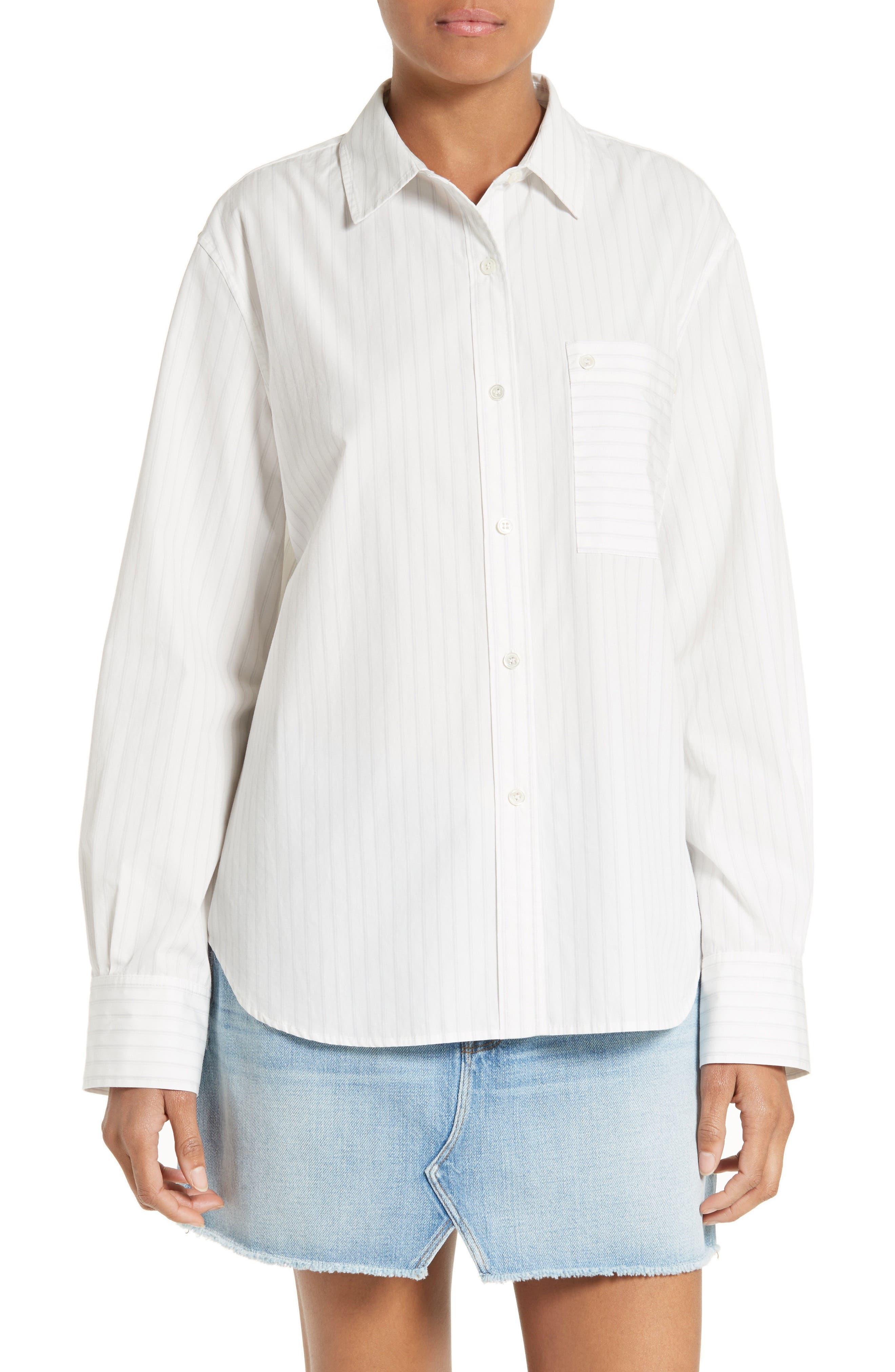 FRAME Poplin Boyfriend Shirt