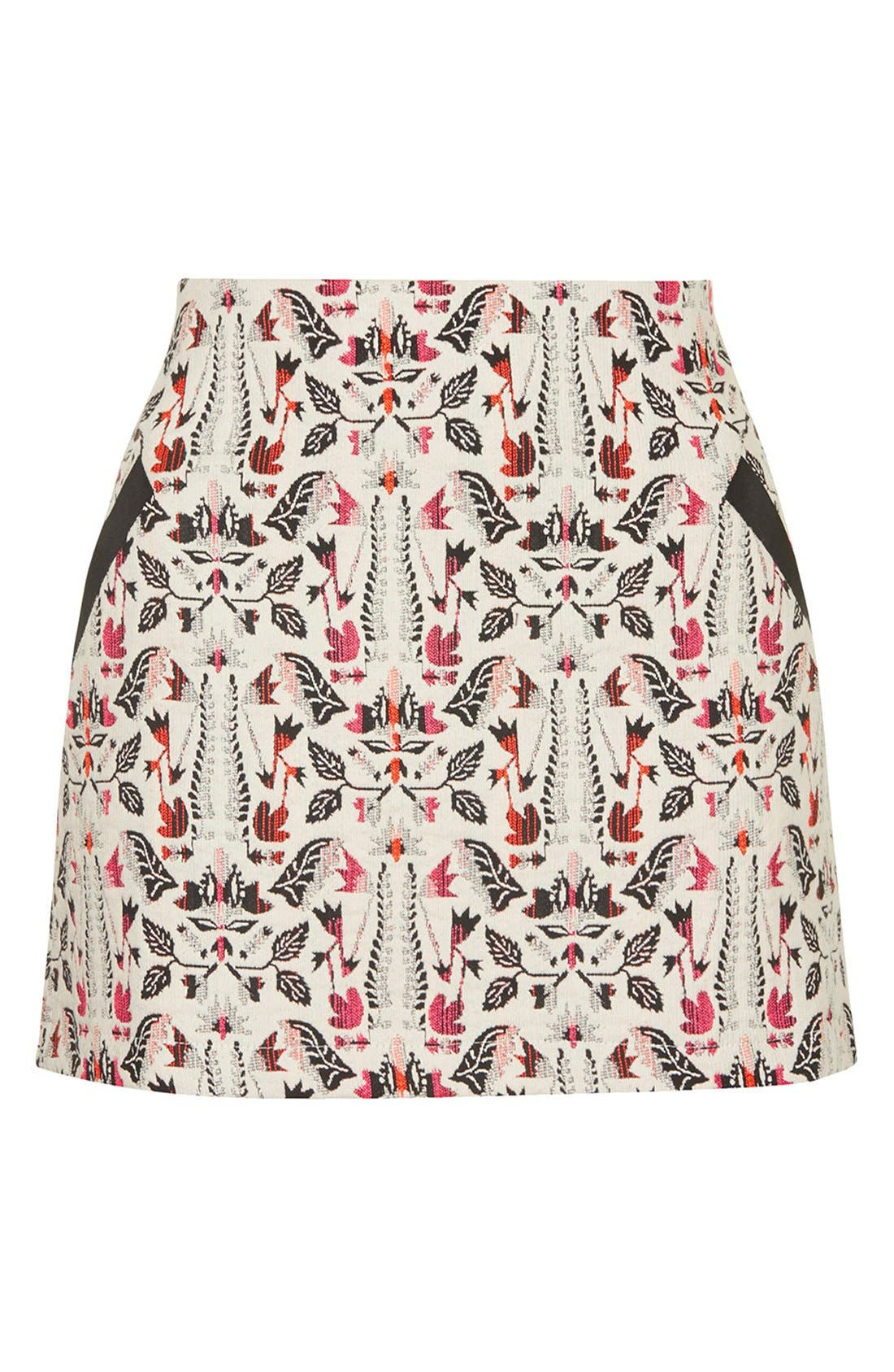 Alternate Image 3  - Topshop Jacquard Miniskirt