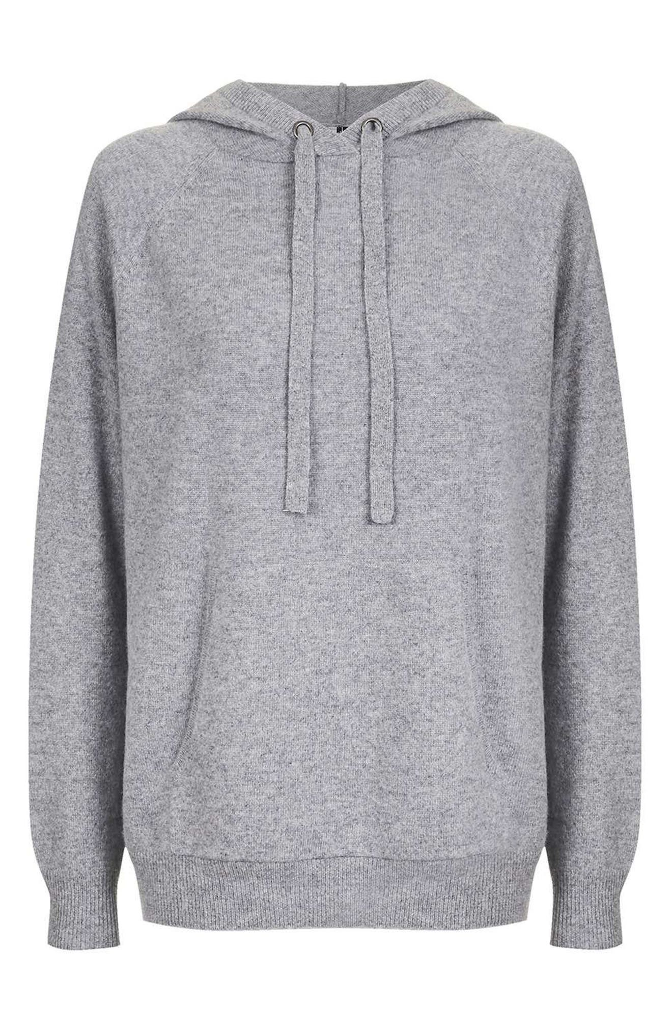Alternate Image 4  - Topshop Luxe Cashmere Hoodie
