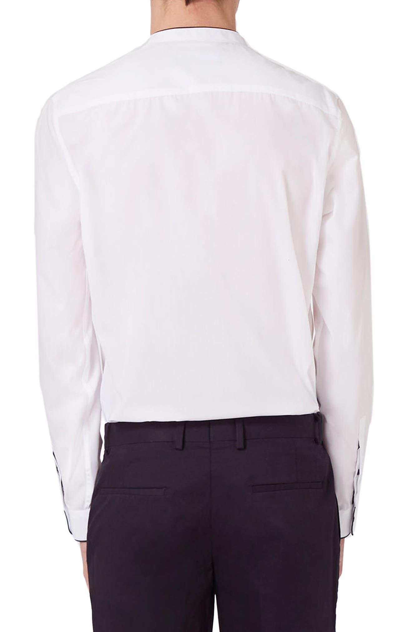 Alternate Image 4  - Topman Slim Fit Band Collar Dress Shirt