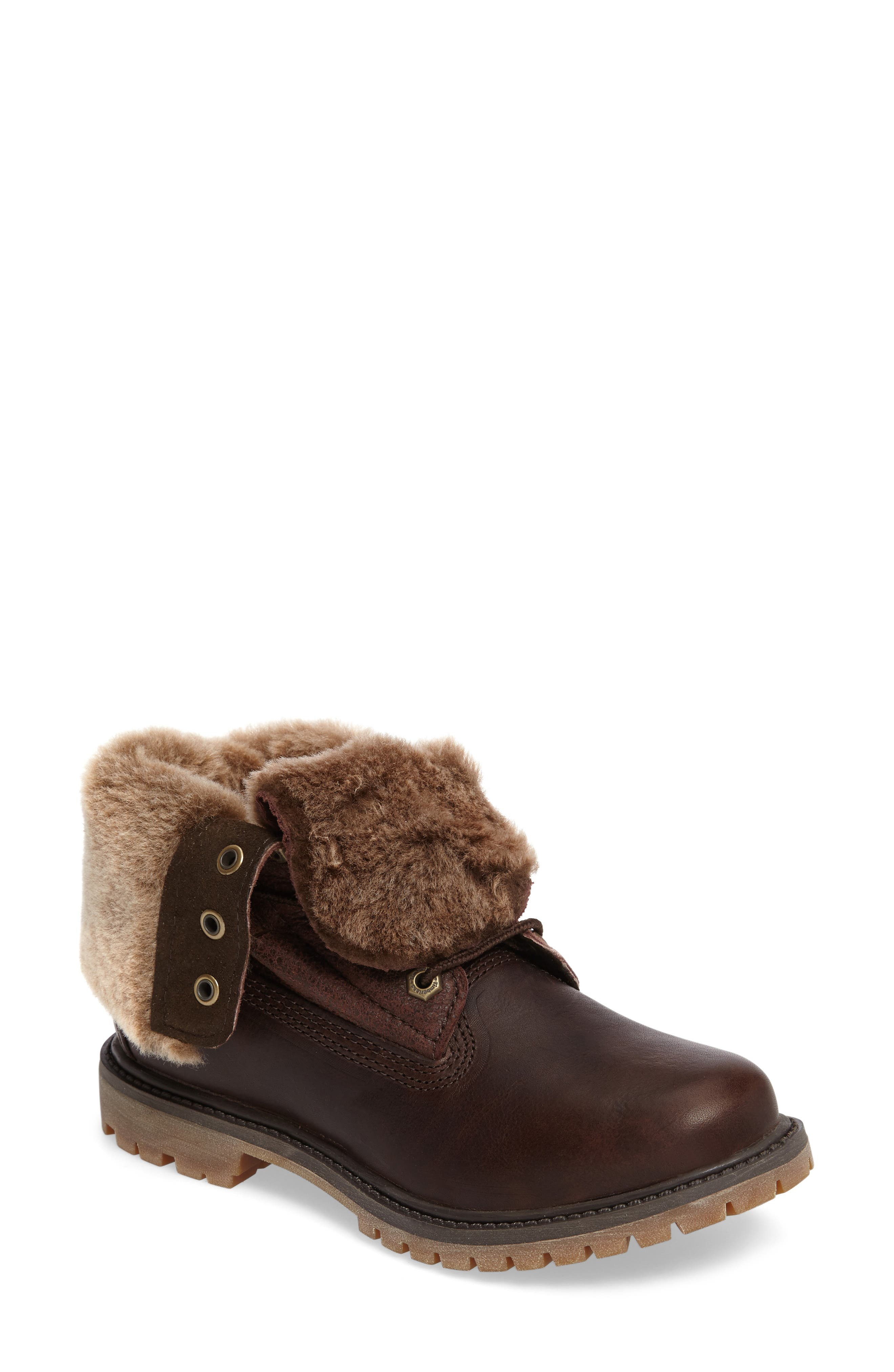 Main Image - Timberland Authentic Water Resistant Genuine Shearling Boot (Women)