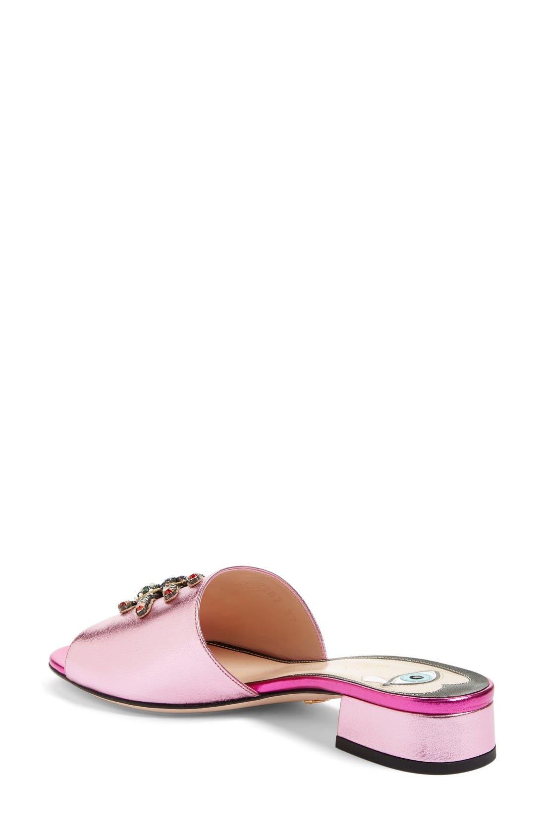 Alternate Image 2  - Gucci Wangy Embellished Slide Sandal