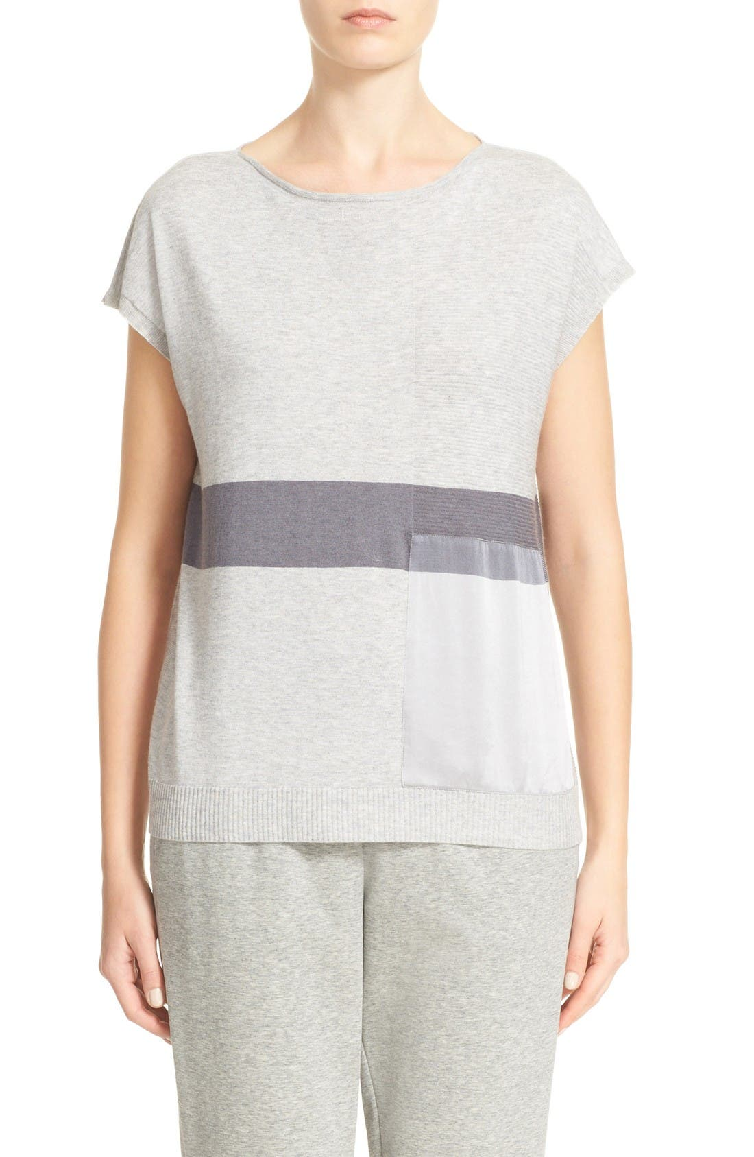 LAFAYETTE 148 NEW YORK Silk Trim Sweater