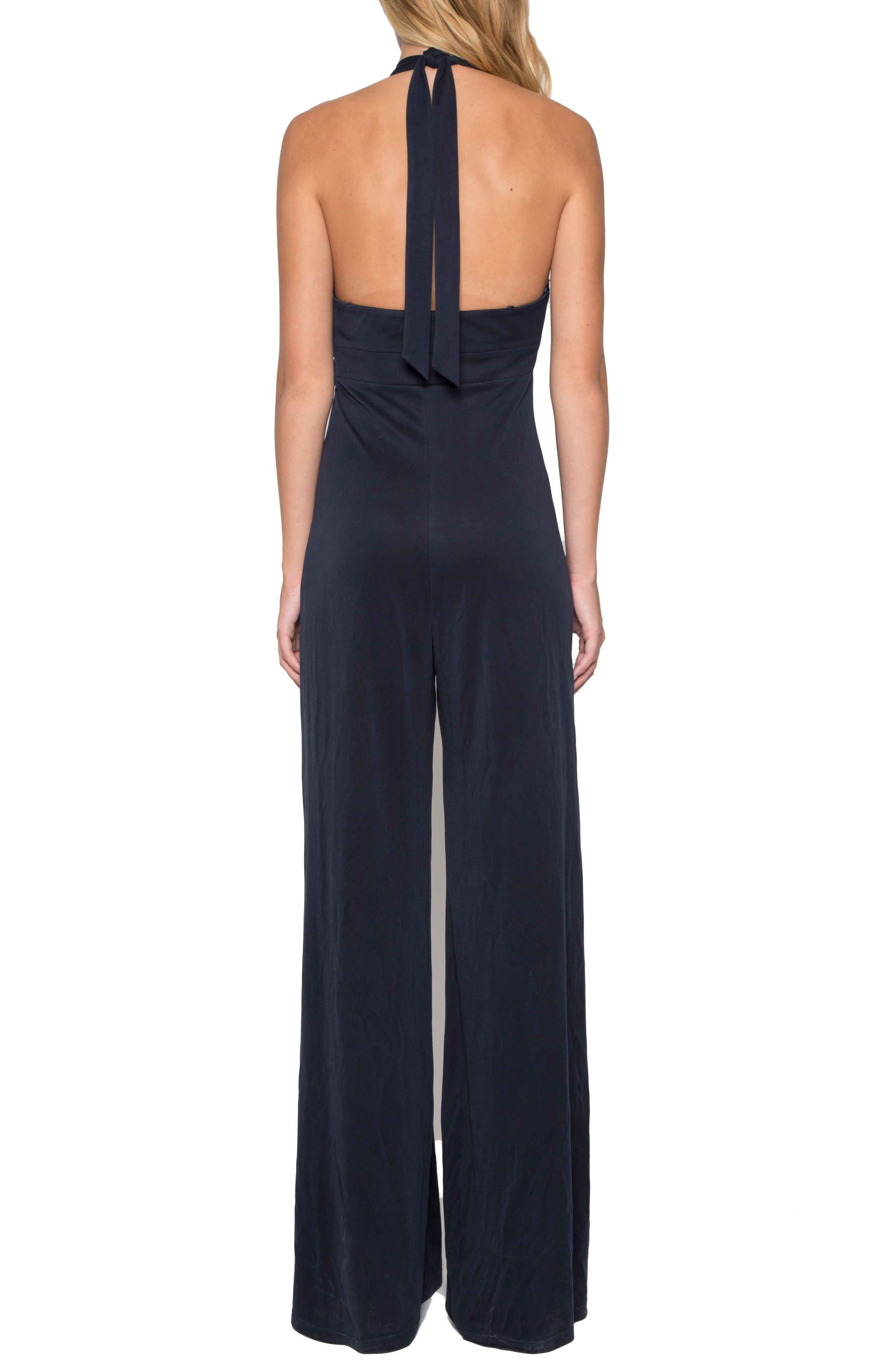 Alternate Image 2  - Willow & Clay Jersey Halter Jumpsuit