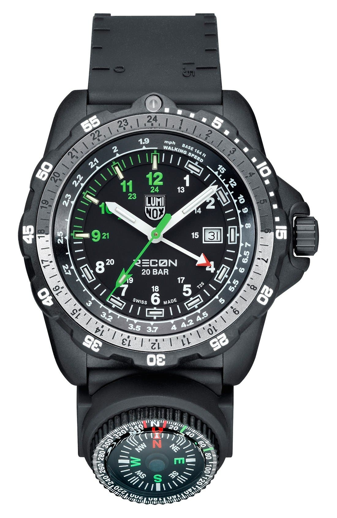 Luminox 'Land - Recon NAV SPC' Removable Compass GMT Watch, 46mm