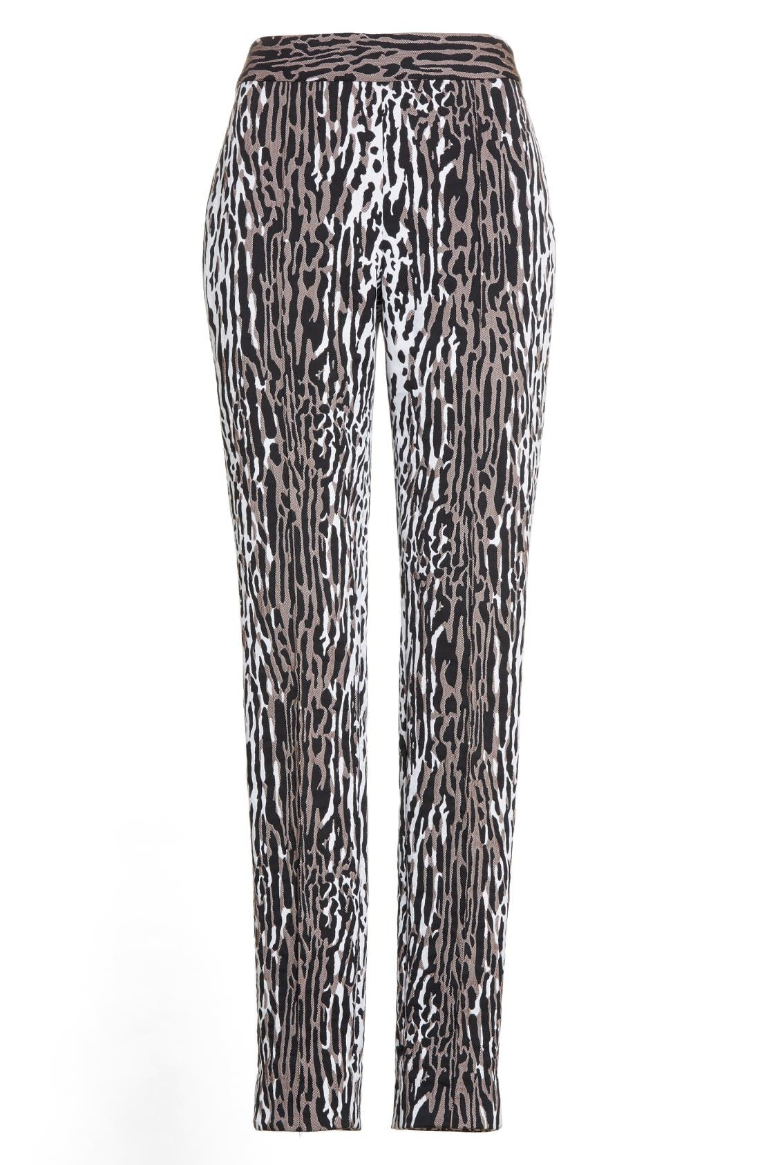 Alternate Image 4  - St. John Collection Leopard Jacquard Ankle Pants