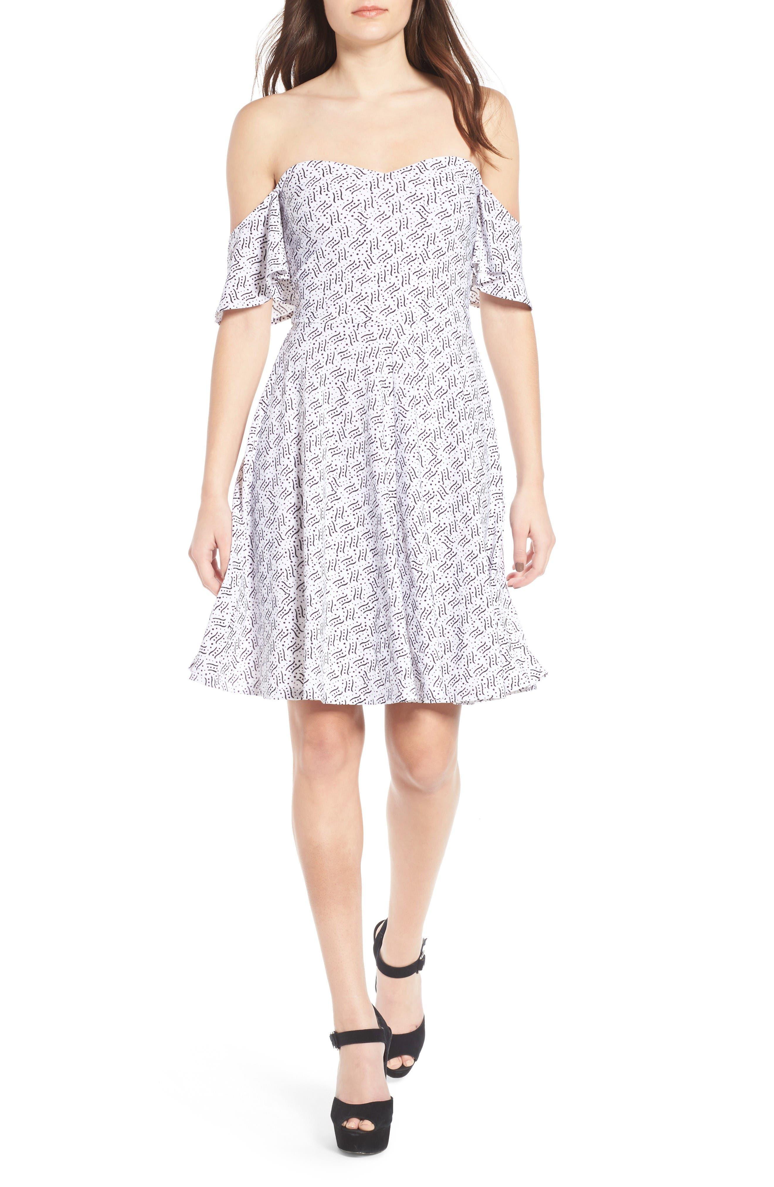 Alternate Image 1 Selected - Leith Off the Shoulder Fit & Flare Dress