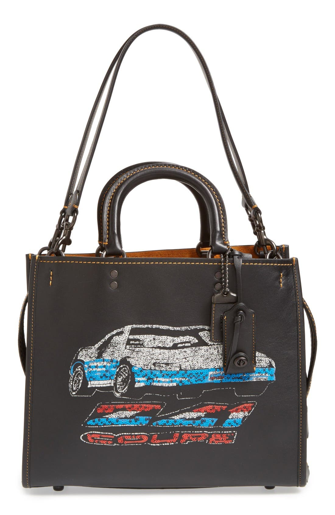 COACH 1941 Car Embellished Rogue Leather Satchel