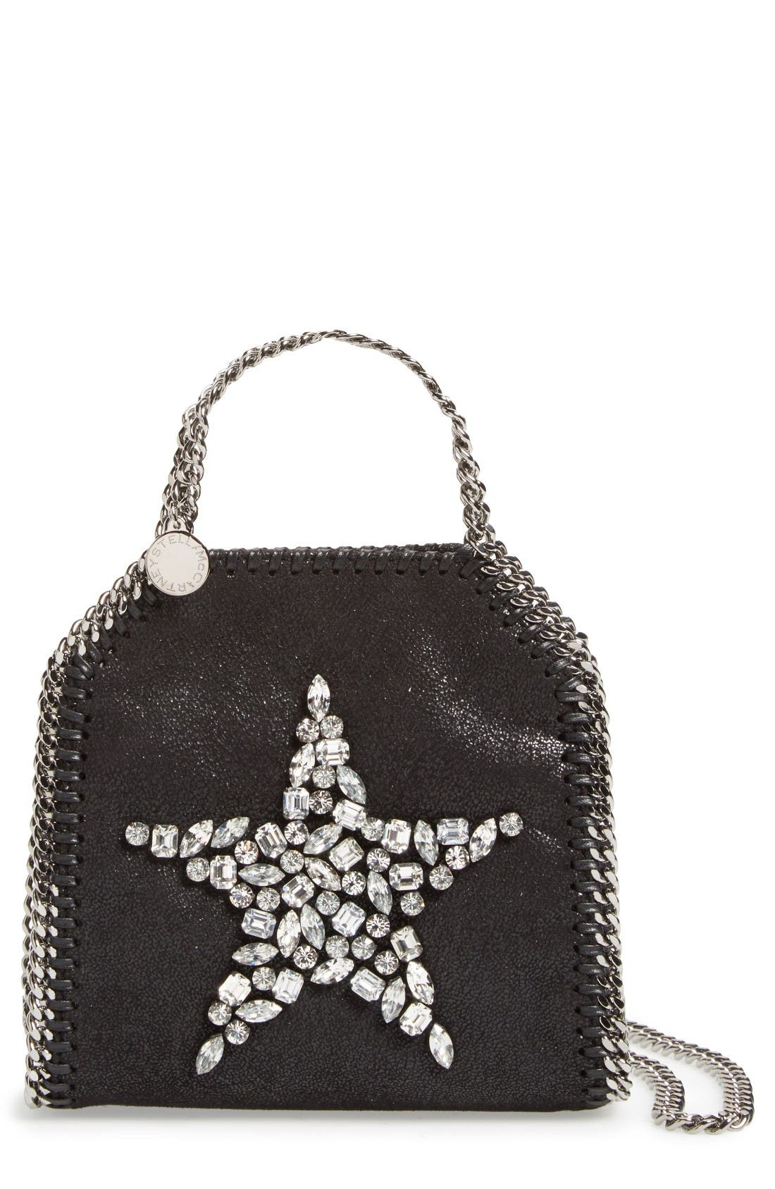 Main Image - Stella McCartney Tiny Falabella Faux Leather Crossbody Bag
