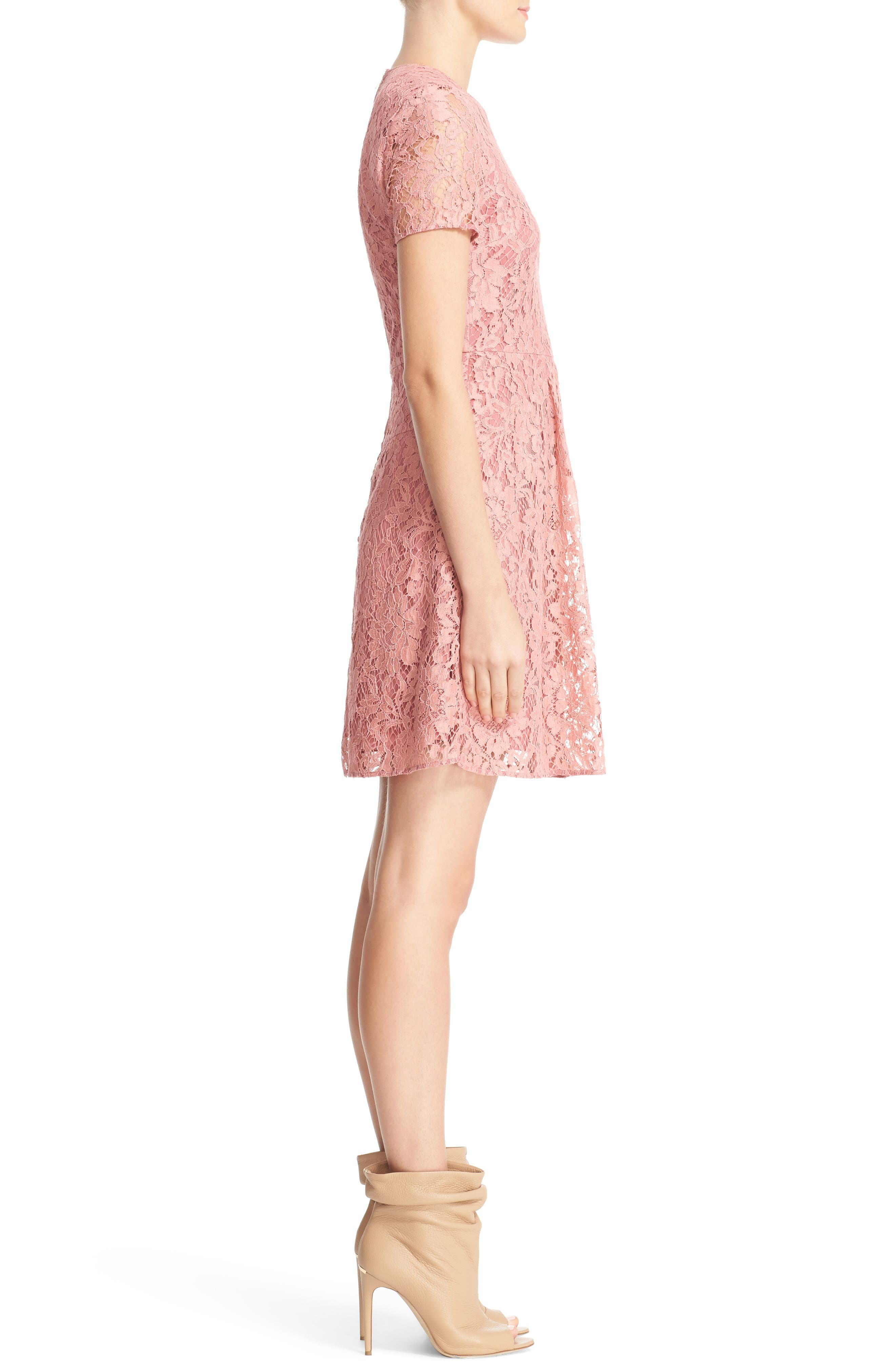 Alternate Image 5  - Burberry Christy Lace Fit & Flare Dress