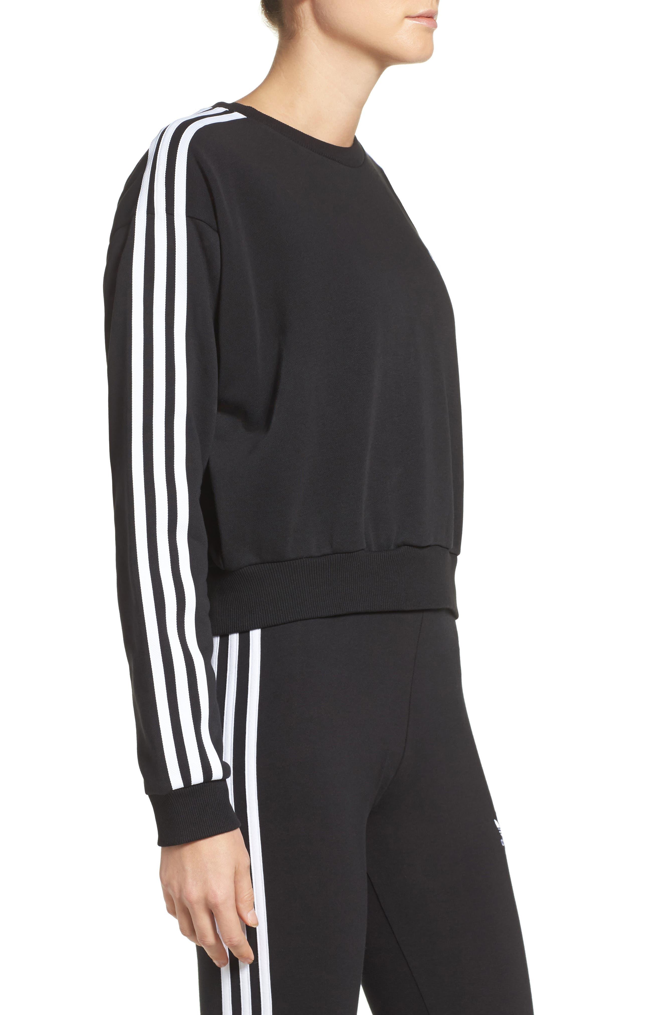 Alternate Image 3  - adidas Originals 3-Stripes Crop Sweatshirt