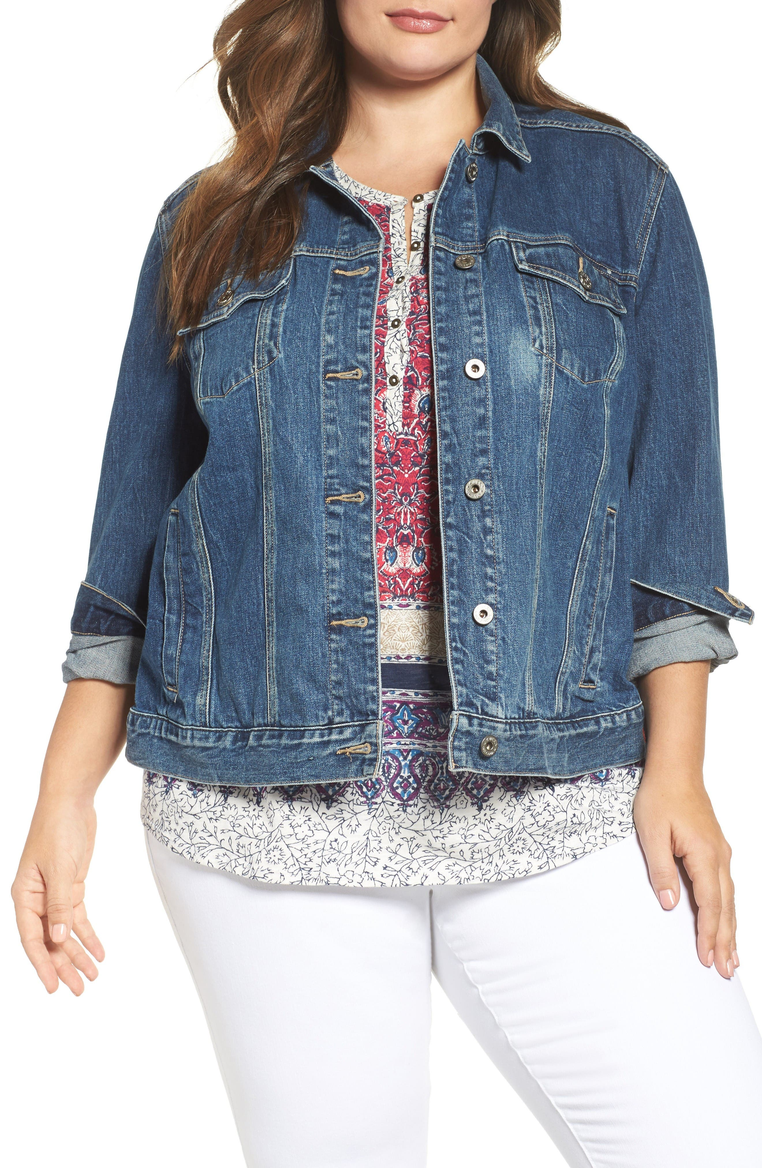 Lucky Brand Denim Jacket (Plus Size)