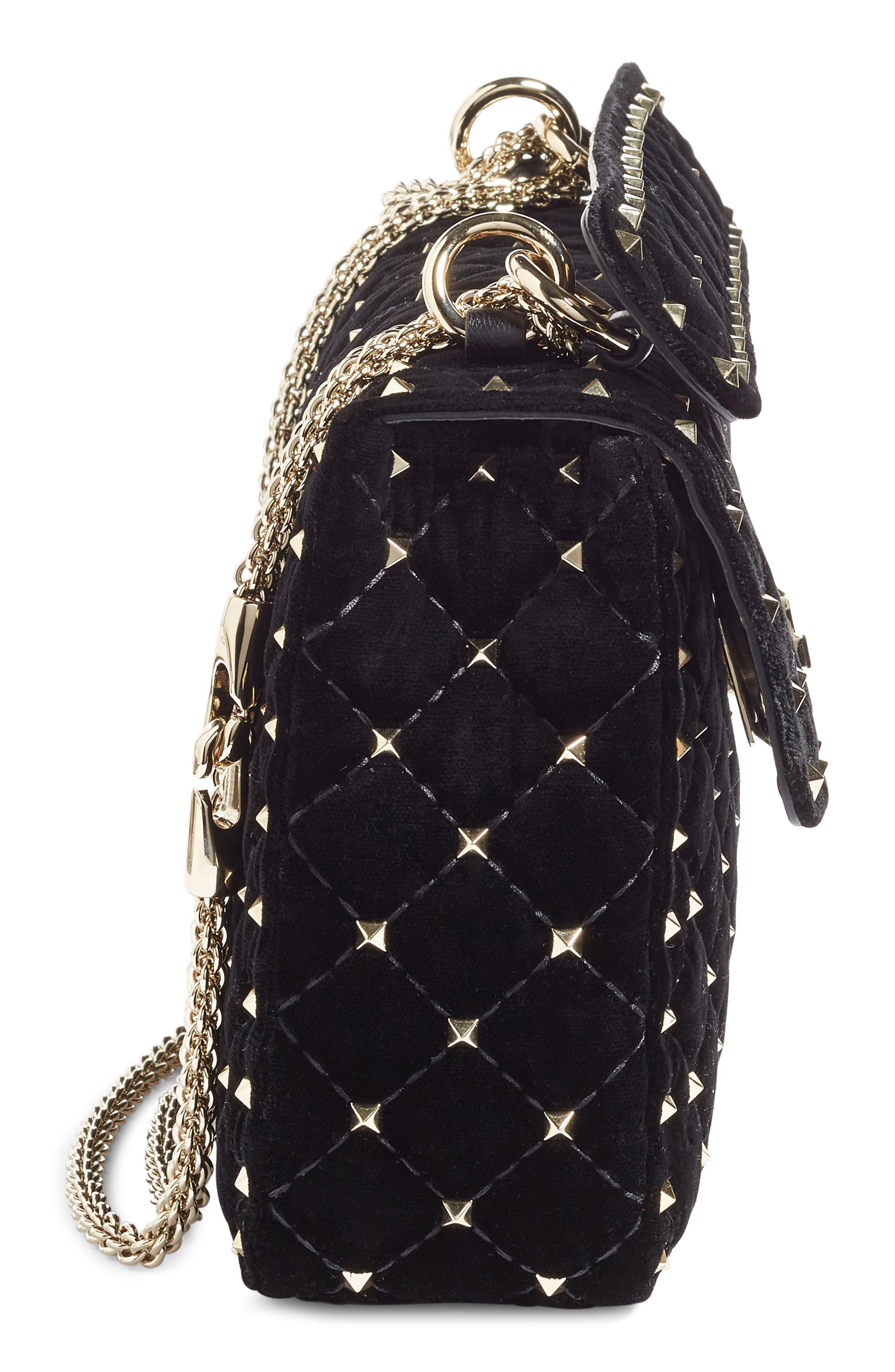 Alternate Image 2  - Valentino Rockstud Spike Velvet Shoulder Bag