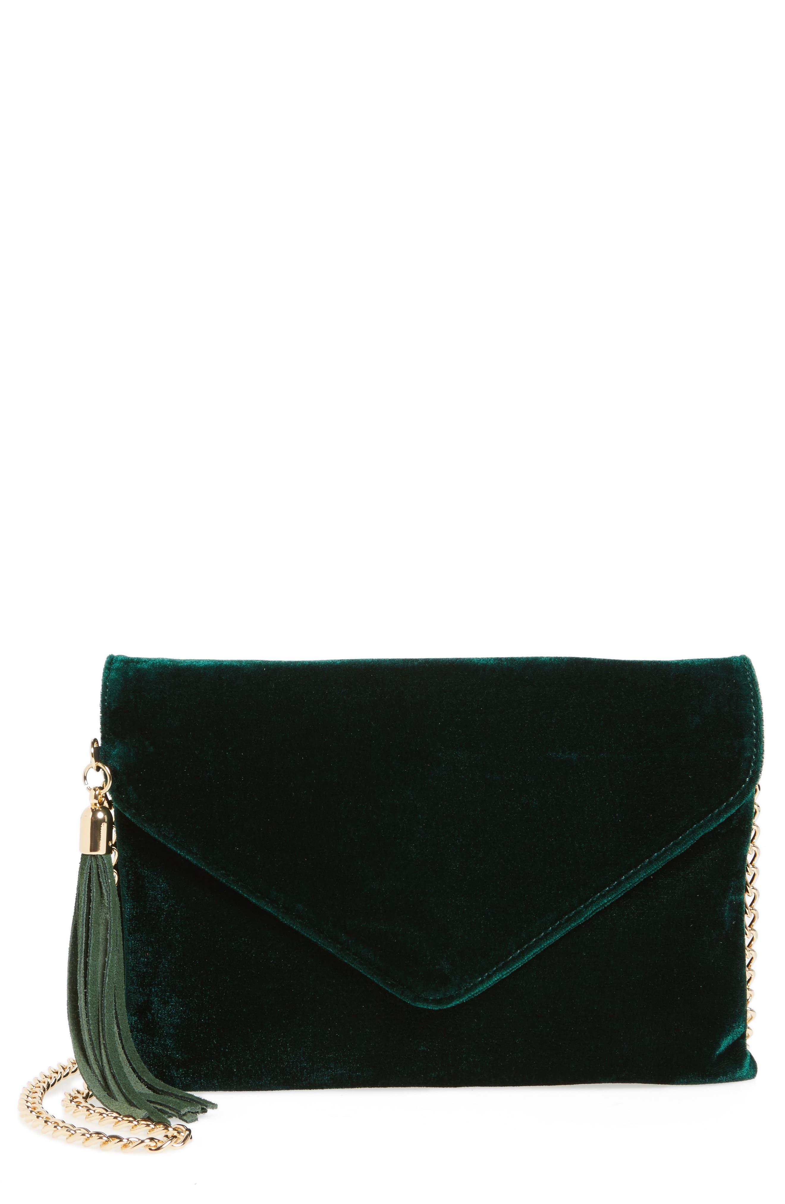 Alternate Image 1 Selected - BP. Tassel Velvet Crossbody Bag