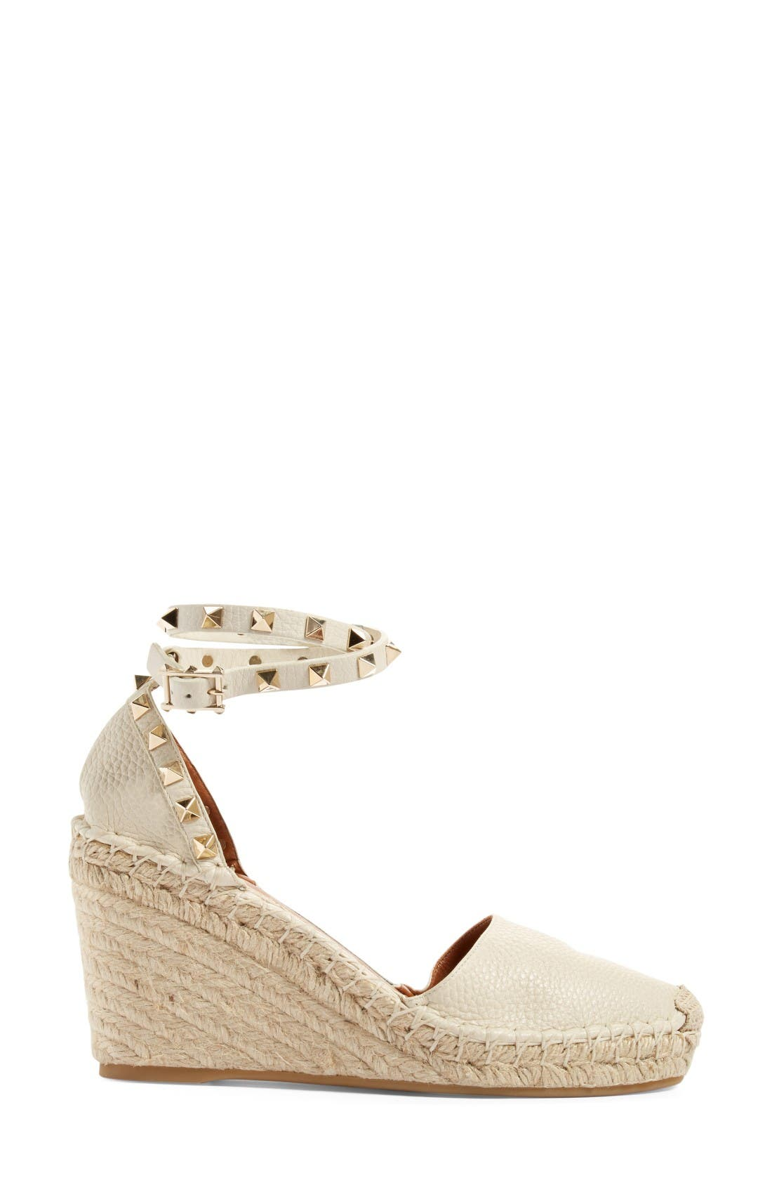 Alternate Image 4  - Valentino Rockstud Espadrille Wedge (Women)