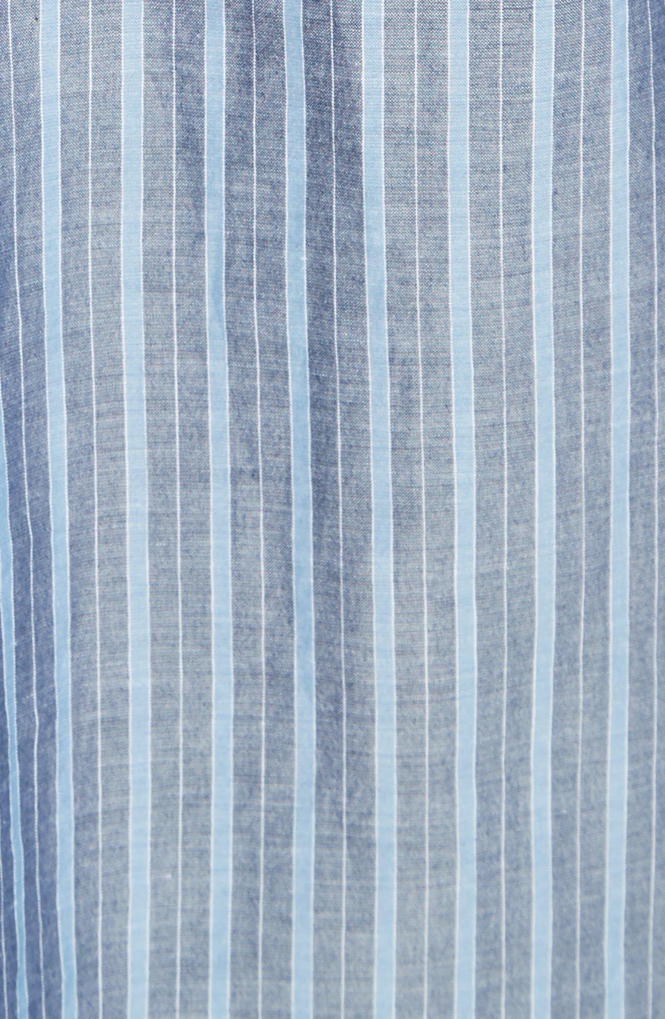 Alternate Image 5  - Vince Stripe Popover Shirt