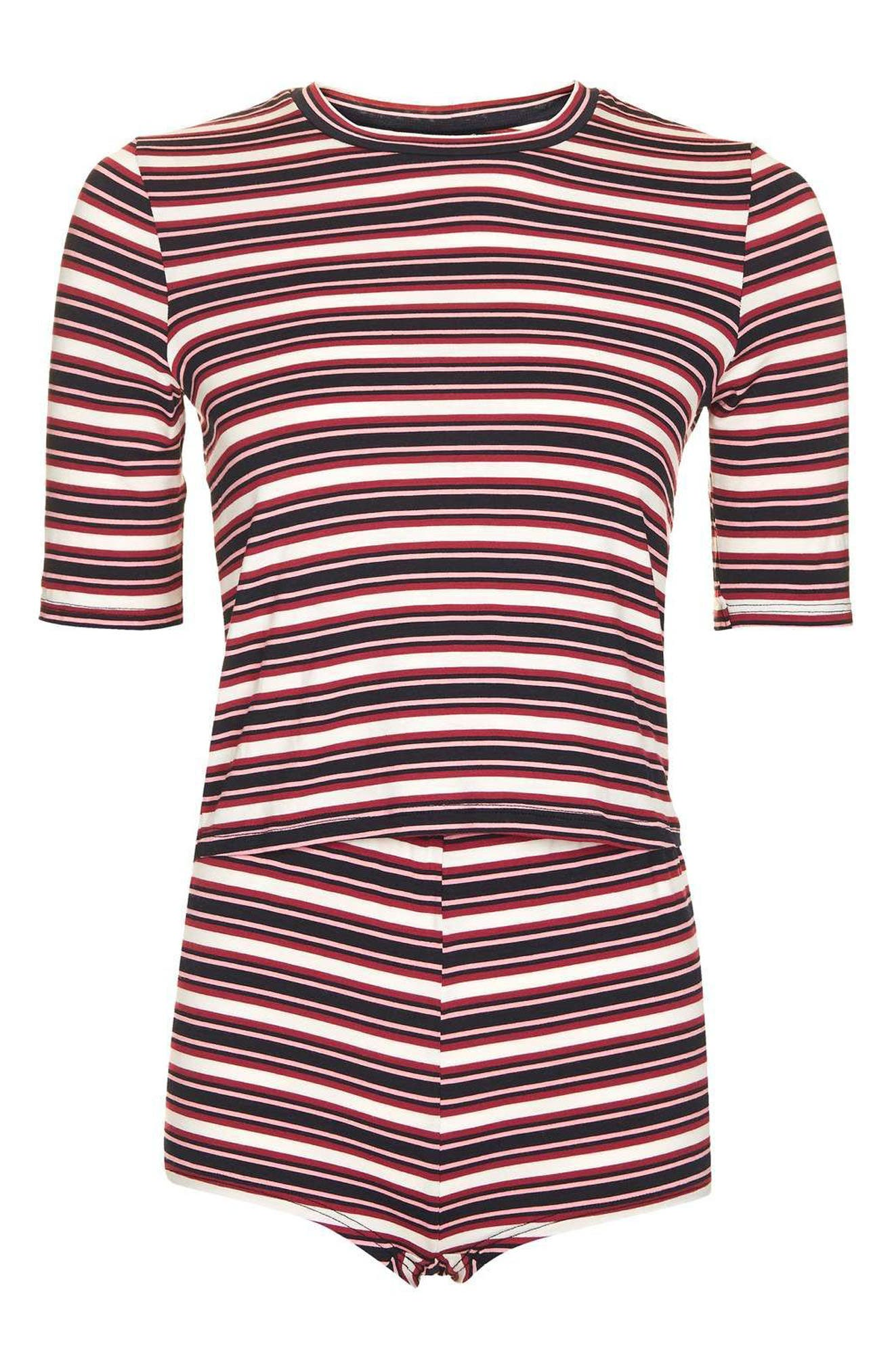 Alternate Image 4  - Topshop Harriet Stripe Pajamas