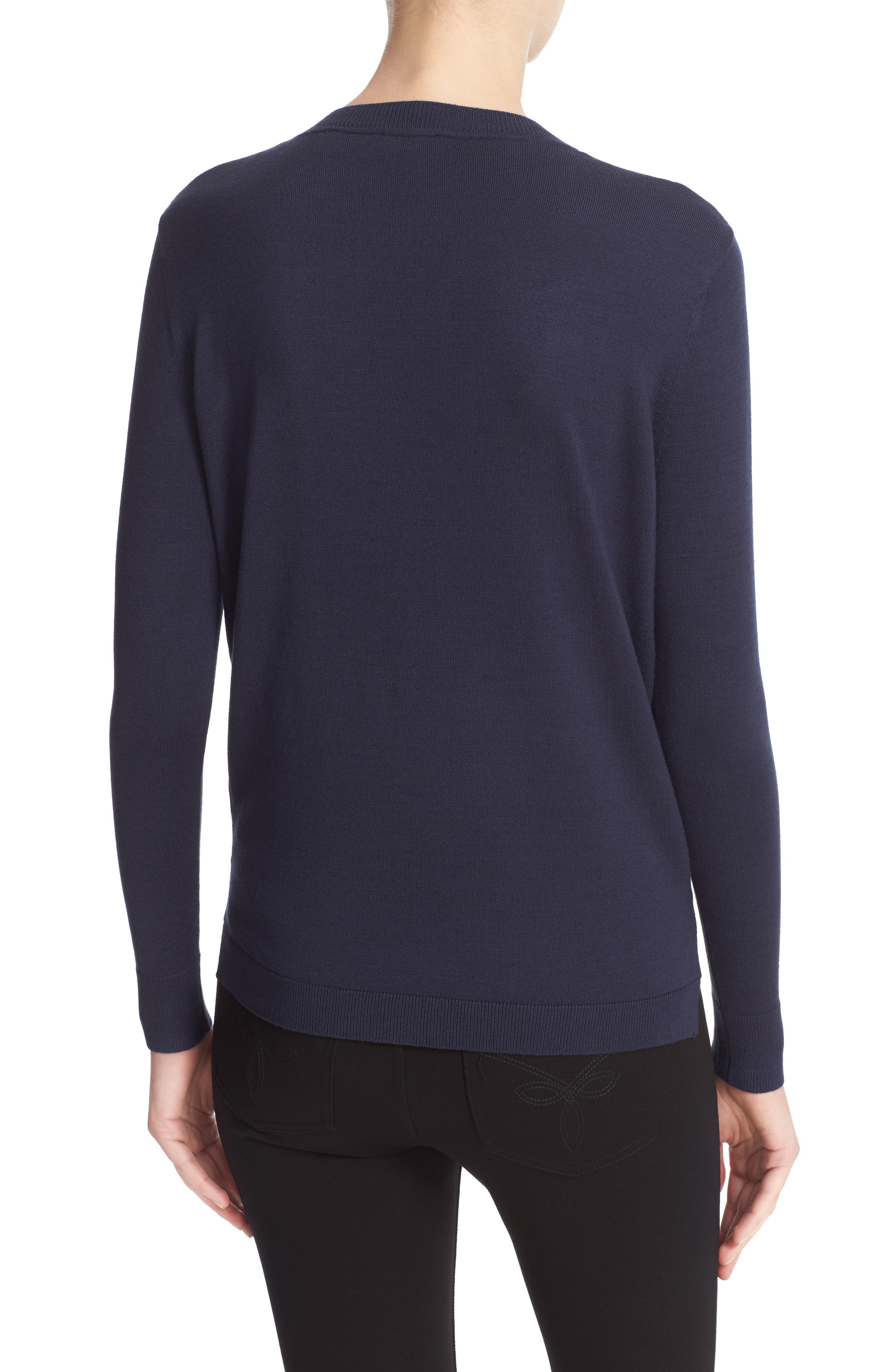 Alternate Image 2  - Ted Baker London Islii Blushing Bouquet Woven Front Sweater