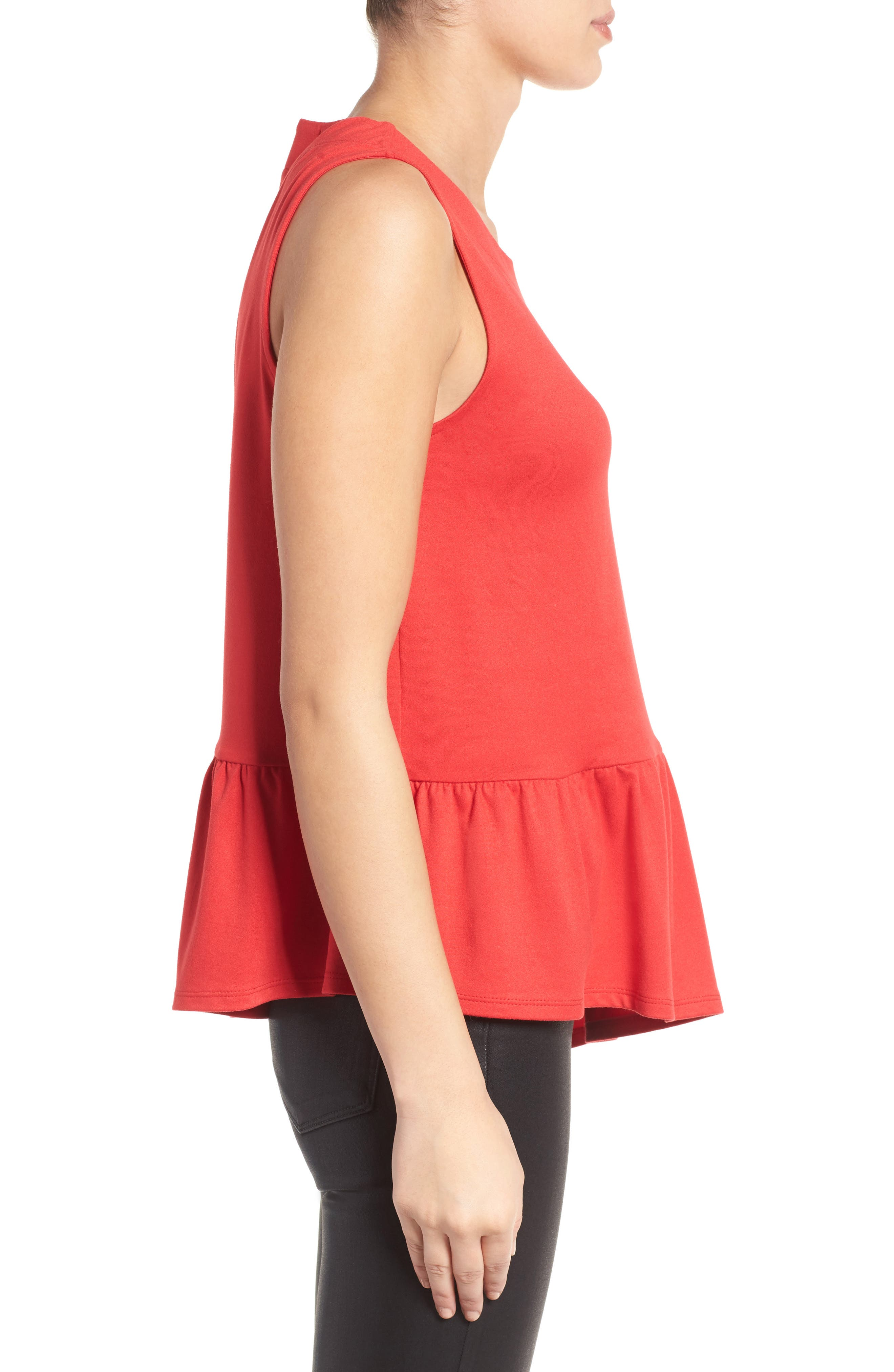 Alternate Image 3  - Gibson Asymmetrical Ruffle Hem Top (Regular & Petite)