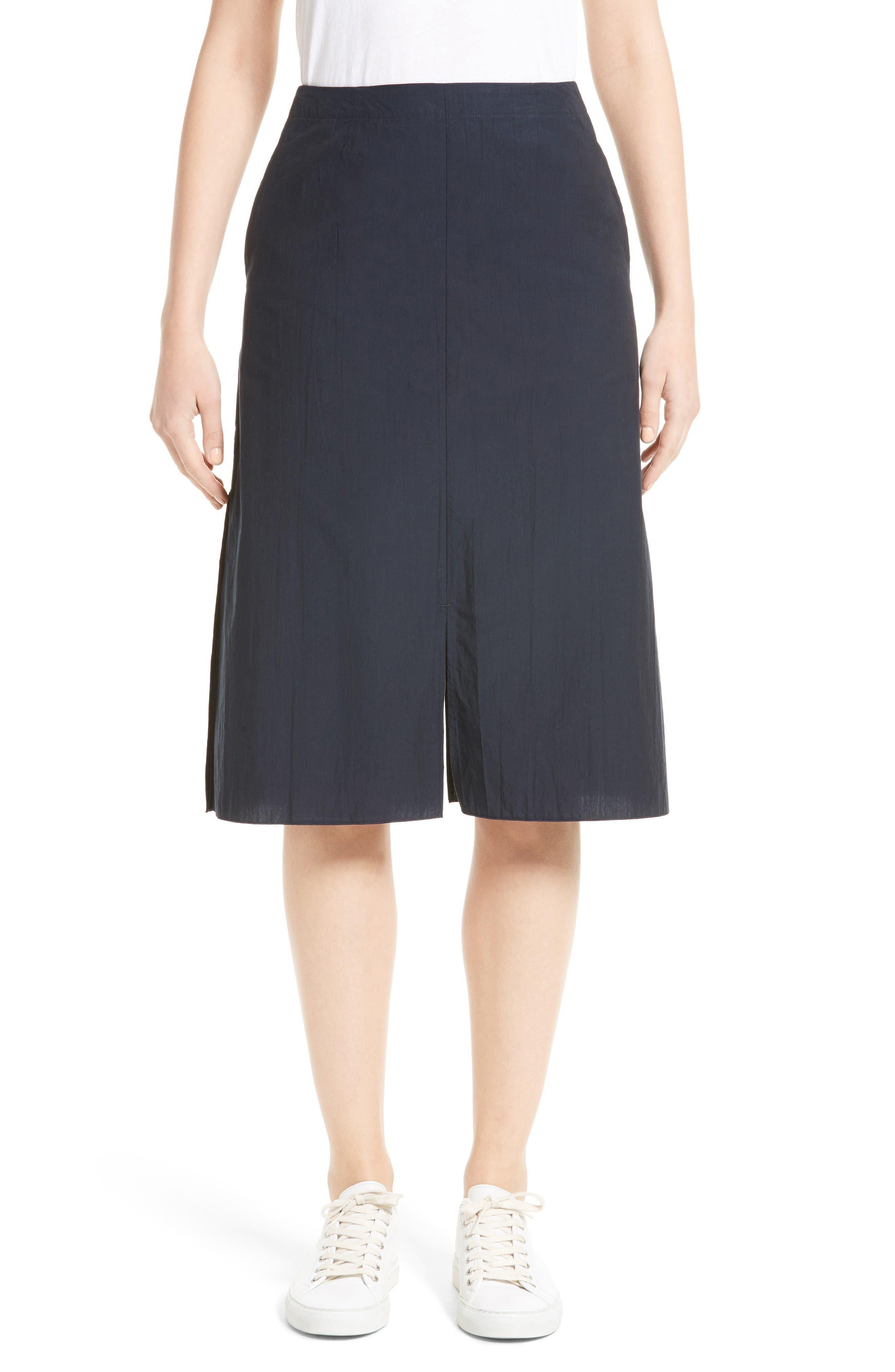 JULIEN DAVID Washed Cotton Shirting Skirt