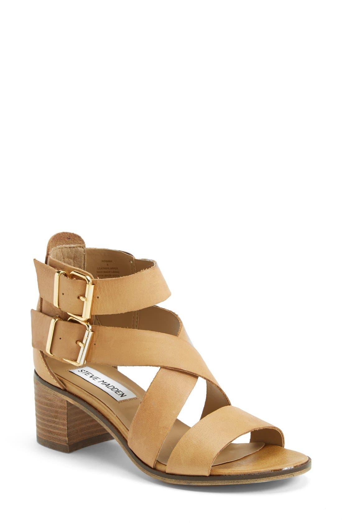 Alternate Image 1 Selected - Steve Madden 'Rosana' Double Ankle Strap Leather Sandal (Women)