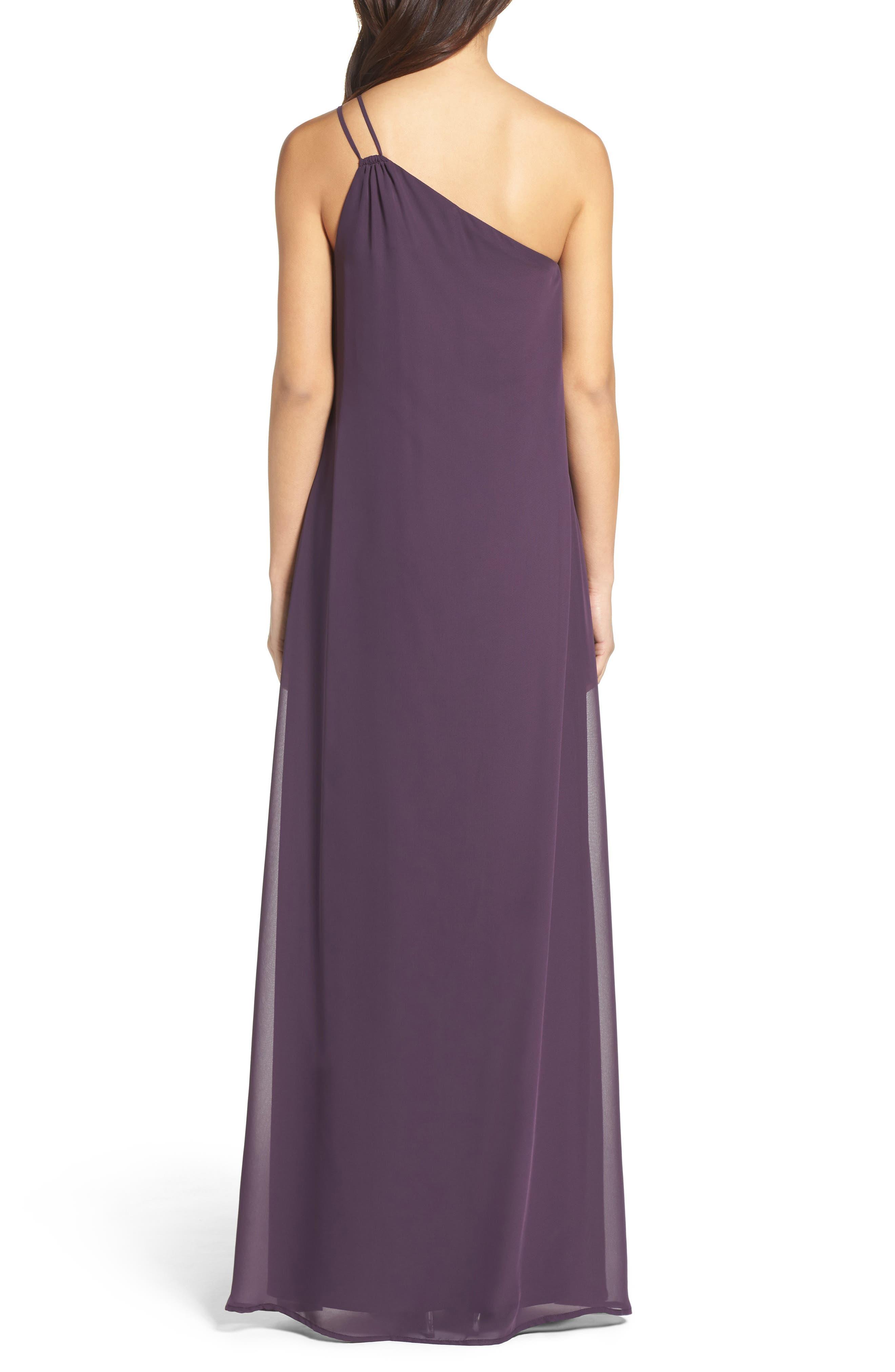 Alternate Image 2  - nouvelle AMSALE Hadley One-Shoulder Chiffon Gown