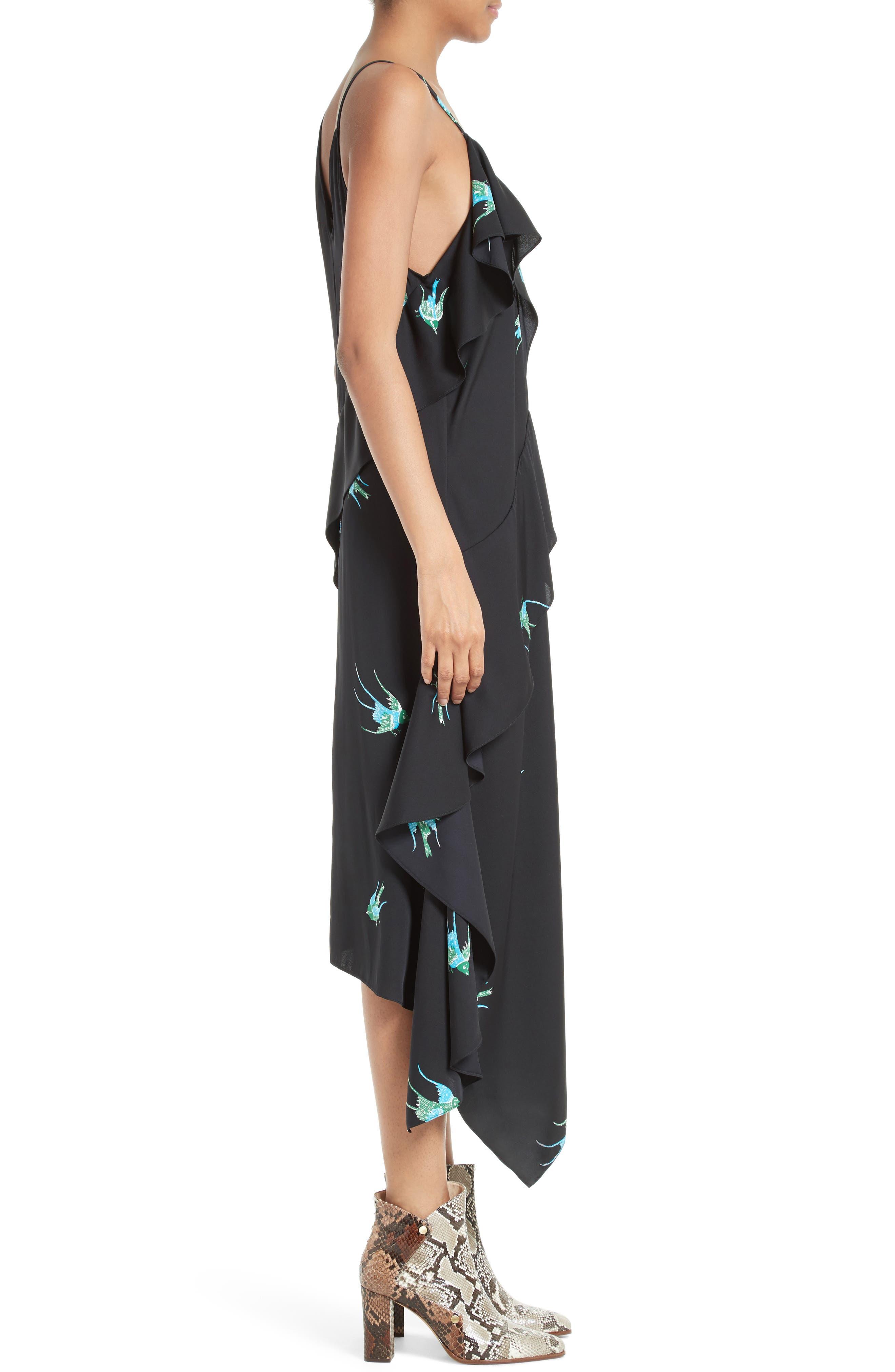 Alternate Image 3  - Diane von Furstenberg Asymmetrical Ruffle Midi Dress