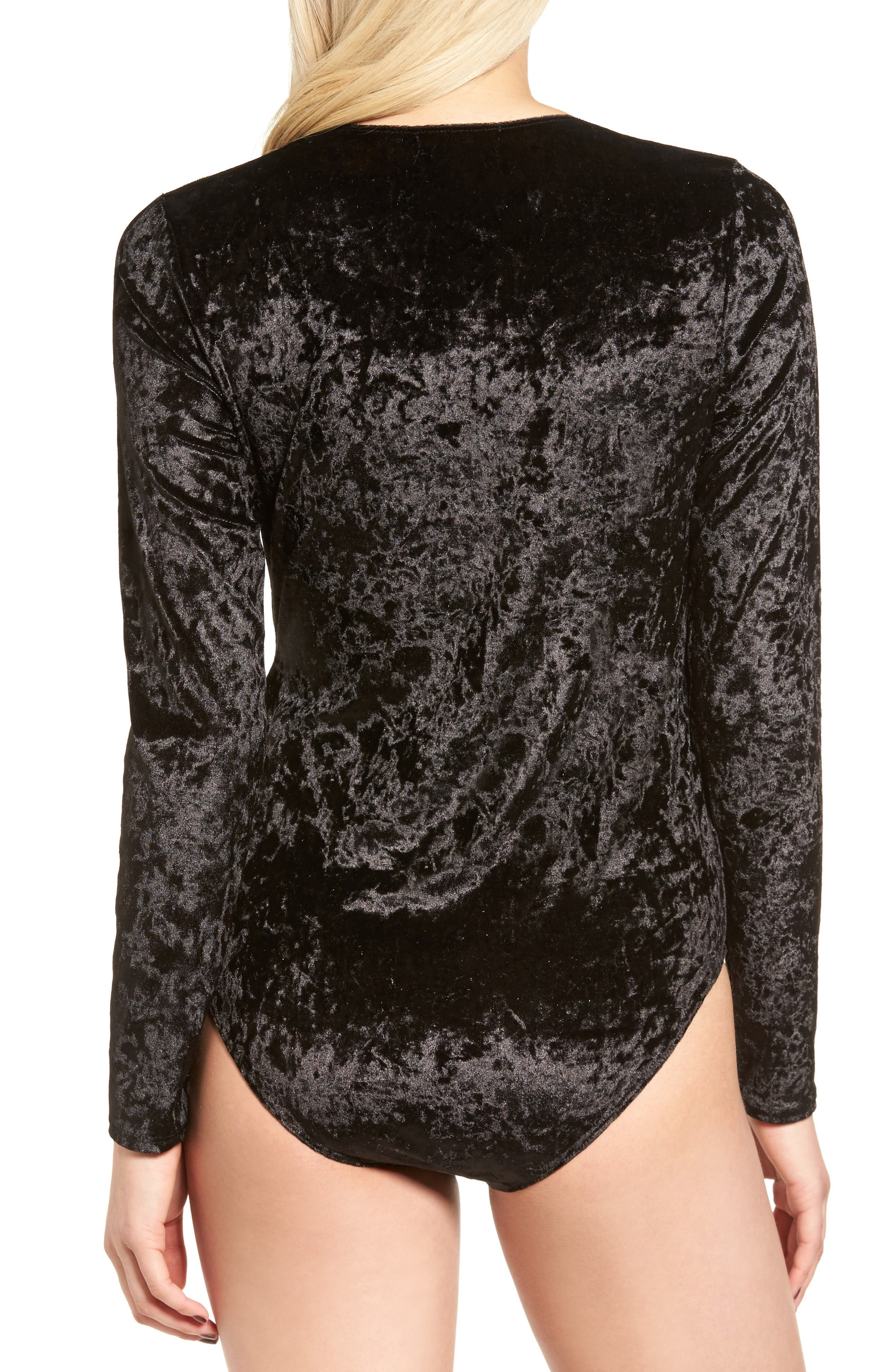 Alternate Image 2  - Trouvé Velvet Surplice Bodysuit