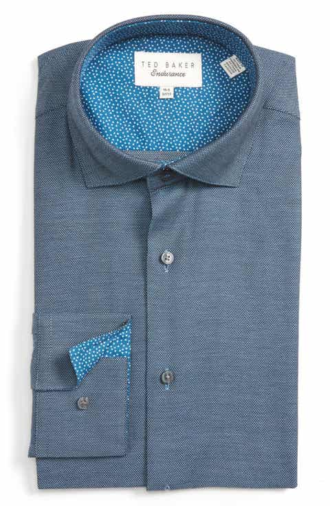 Ted Baker London Kian Trim Fit Geometric Dress Shirt