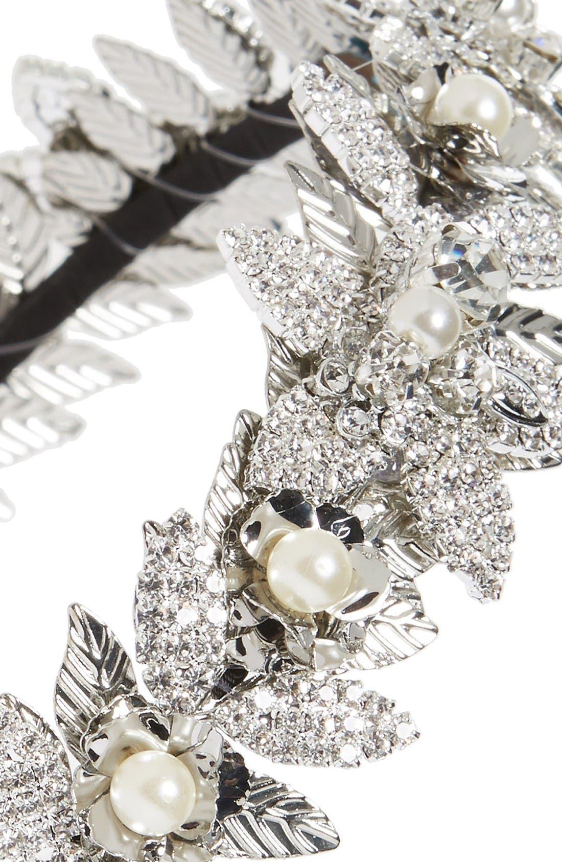 Alternate Image 2  - Tasha Crystal Flower Headband