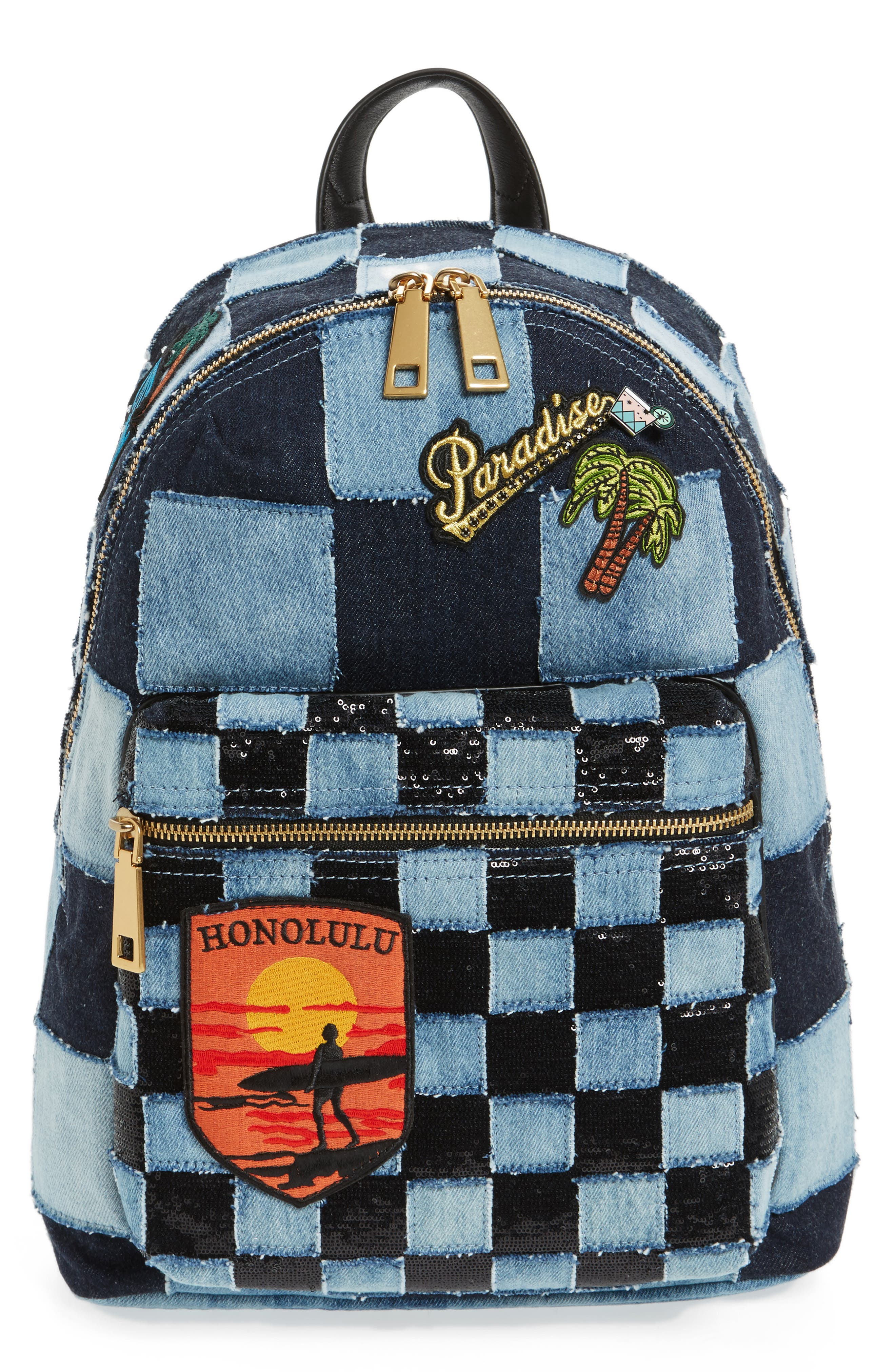 Main Image - MARC JACOBS Denim Biker Backpack