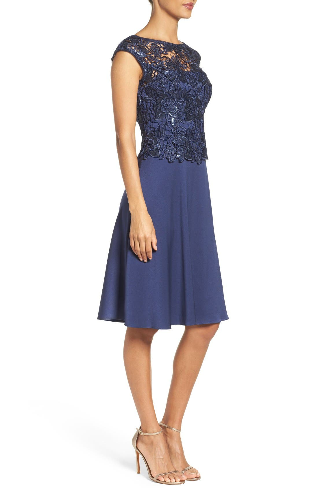 Alternate Image 3  - Adrianna Papell Fit & Flare Dress