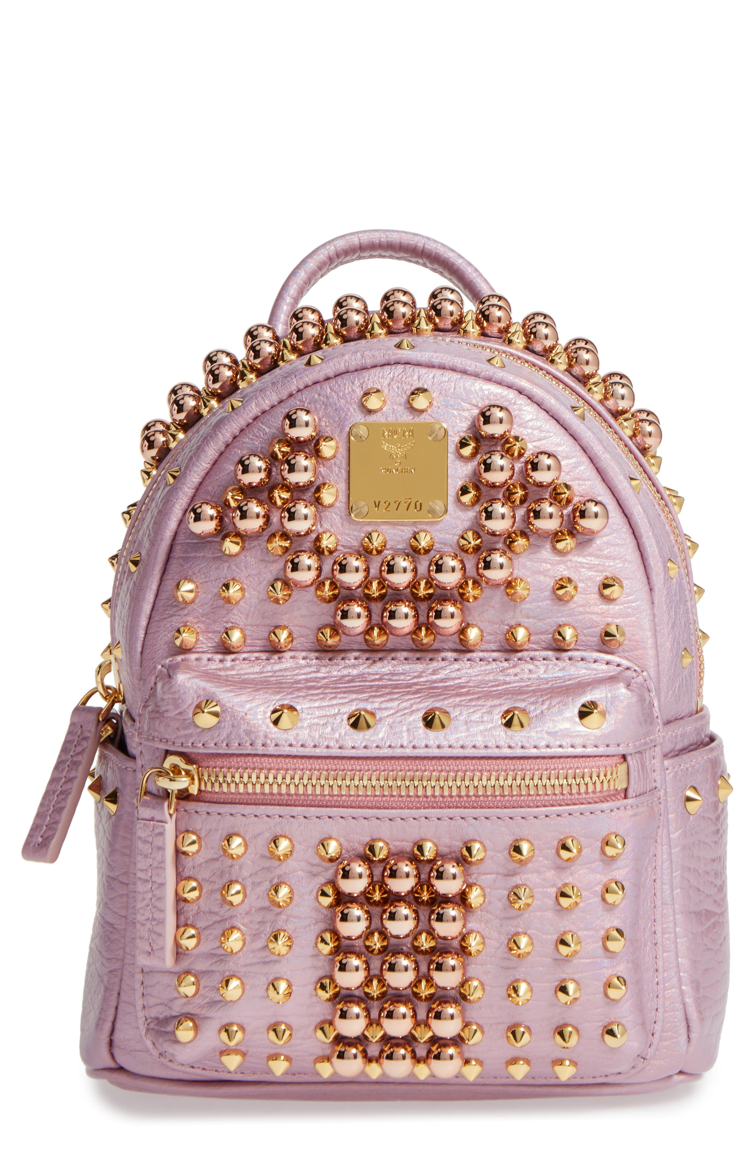Alternate Image 1 Selected - MCM X-Mini Stark Stud Backpack