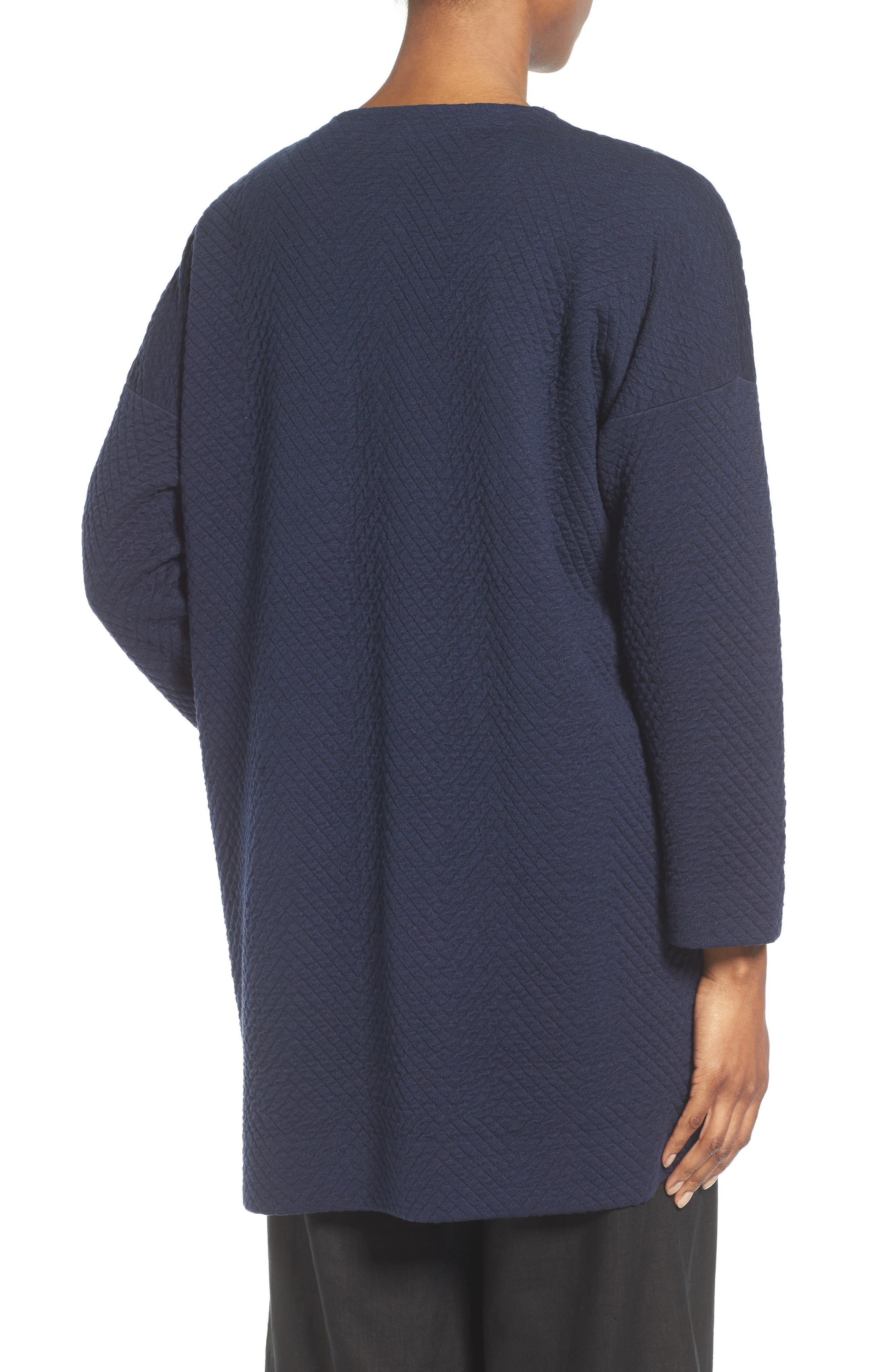 Alternate Image 2  - Eileen Fisher Silk Blend Jacquard Jacket (Regular & Petite)
