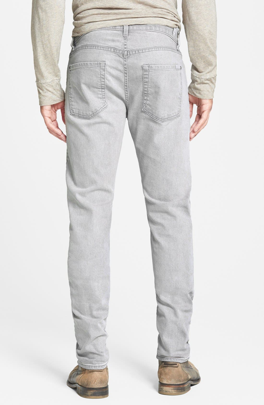 Alternate Image 2  - 7 For All Mankind® 'Paxtyn' Slim Straight Leg Jeans (Clean Grey)