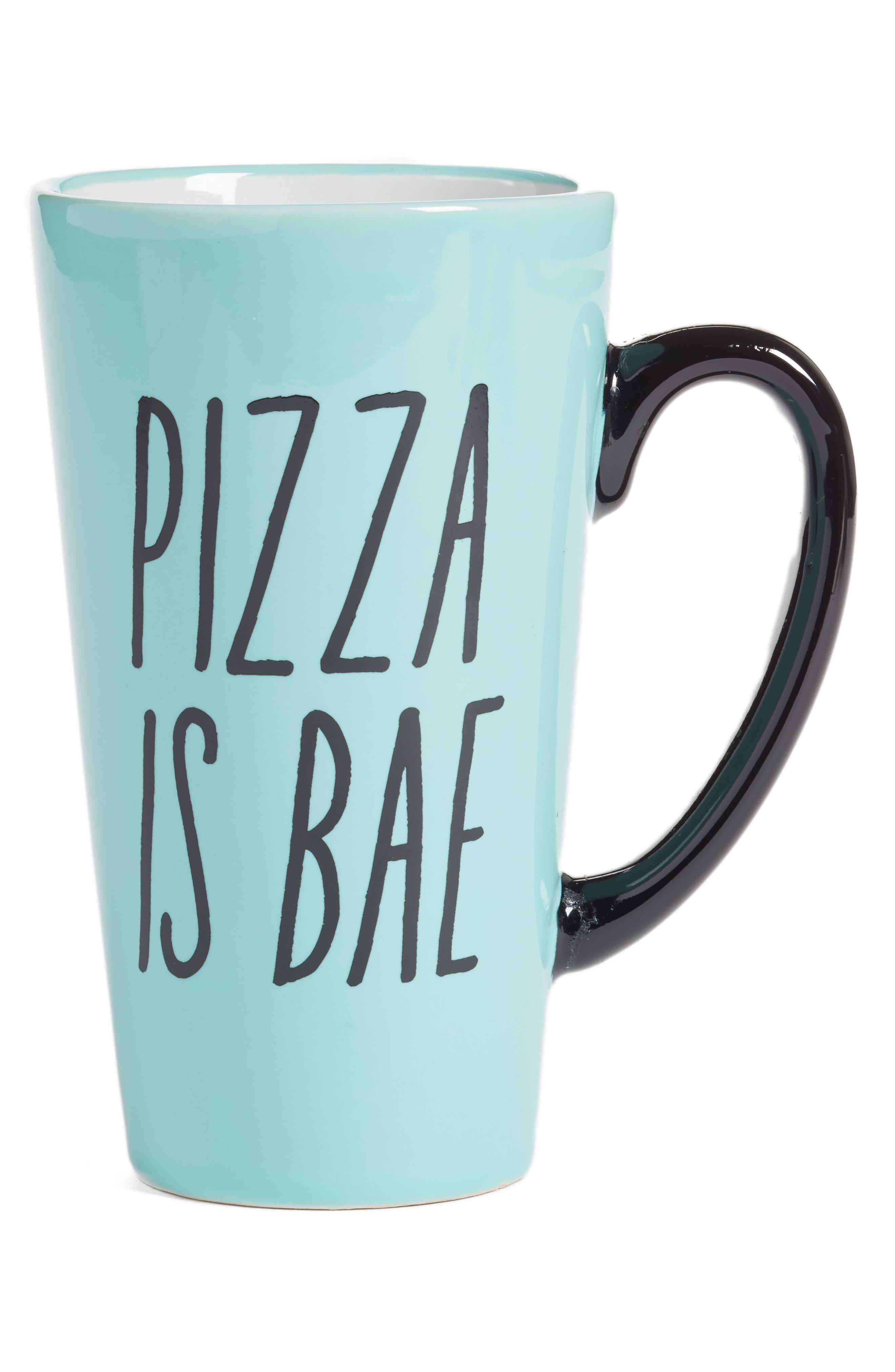 Alternate Image 1 Selected - Ankit Pizza Is Bae Mug