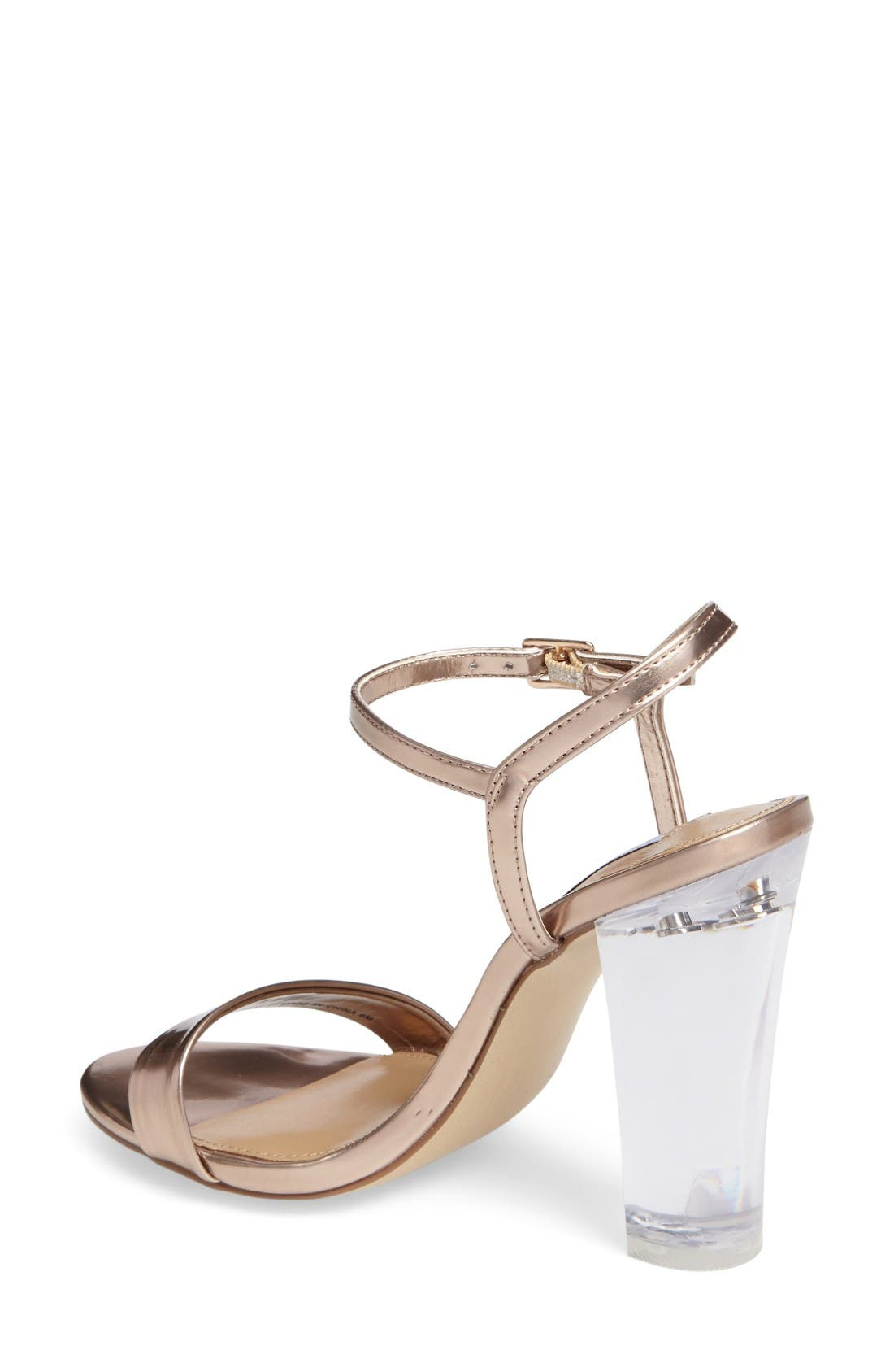 Alternate Image 2  - Steve Madden Vallery Clear Heeled Sandal (Women)