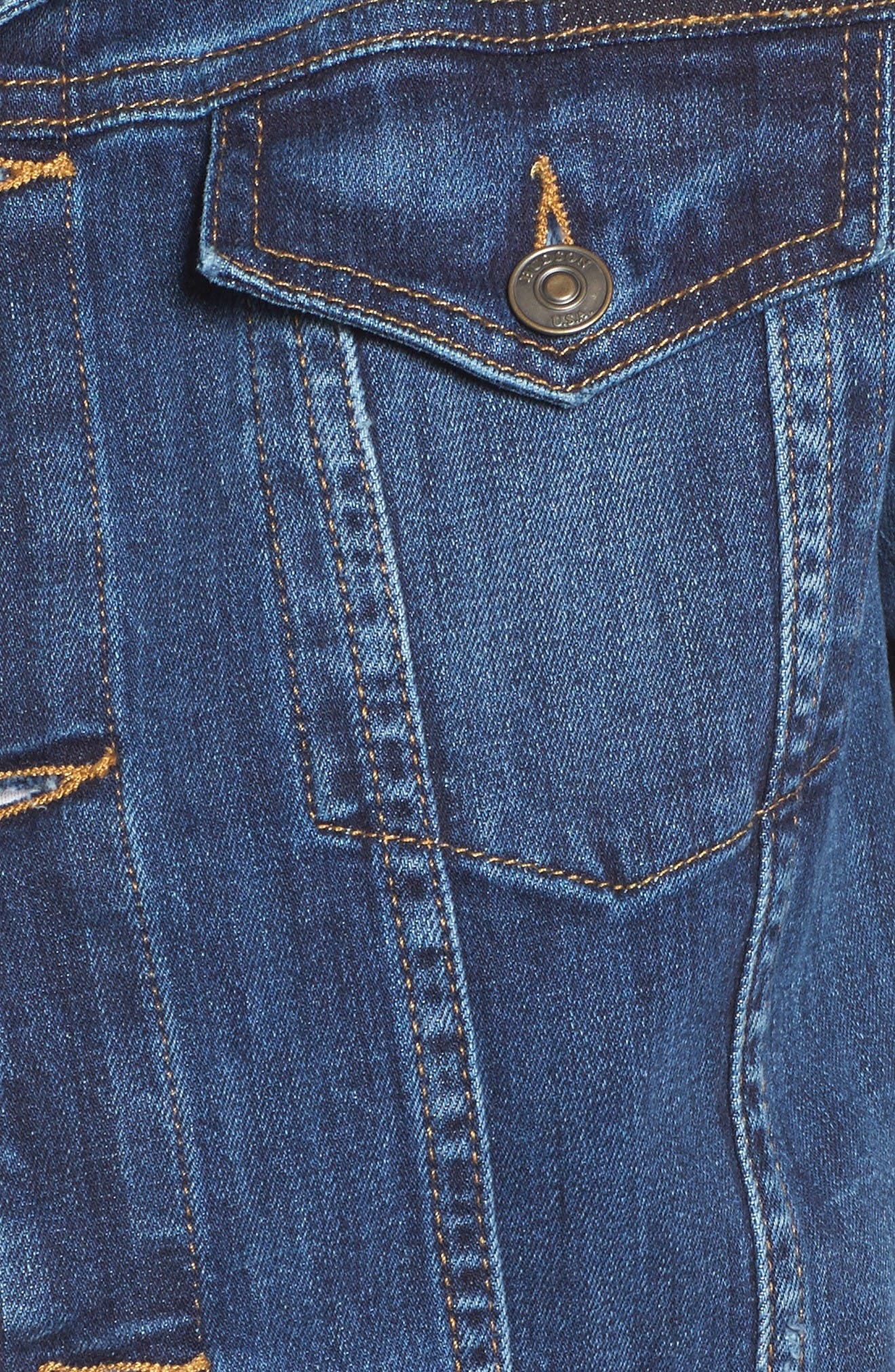 Alternate Image 5  - Hudson Jeans The Classic Denim Jacket