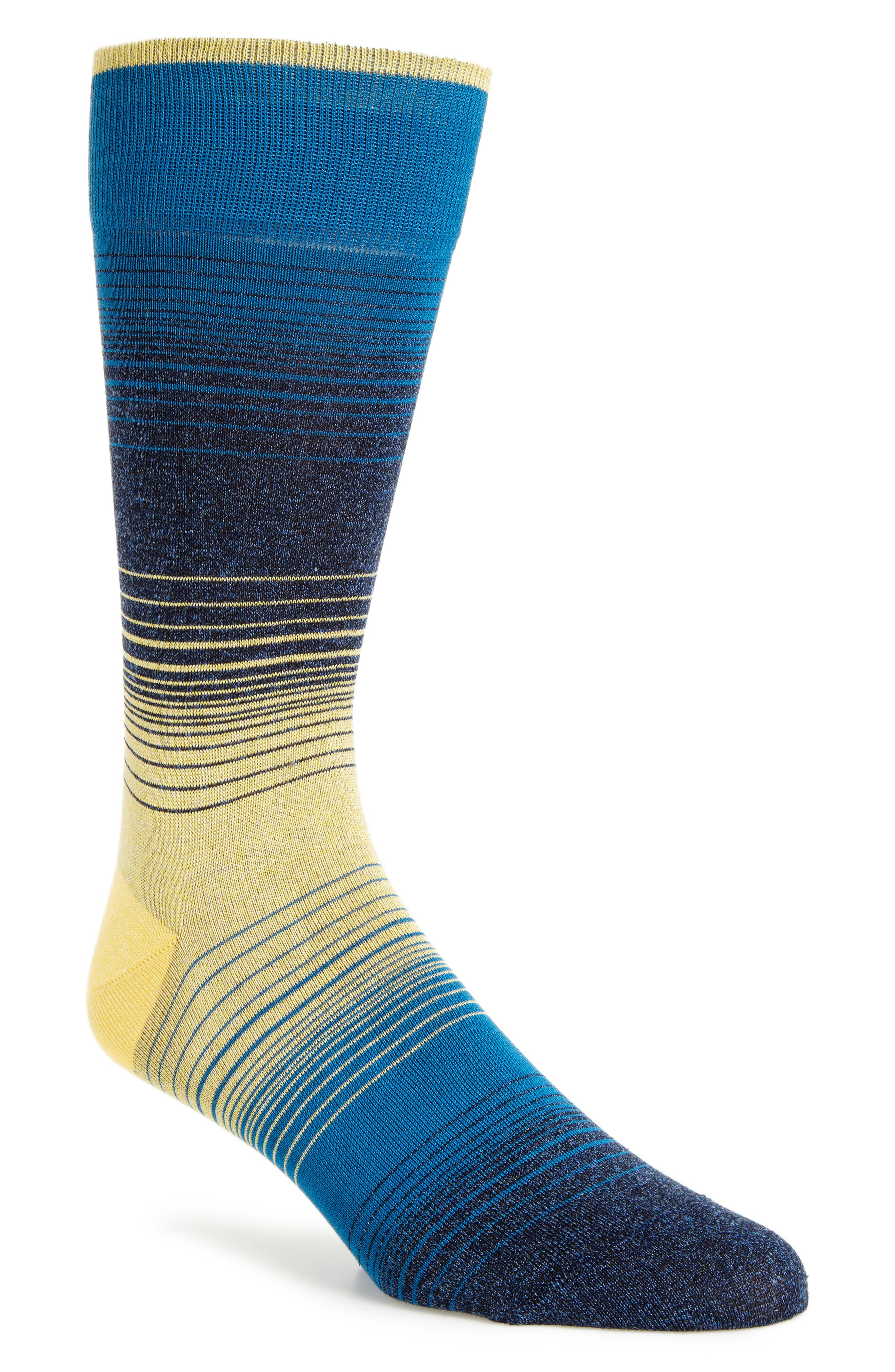 BUGATCHI 'Alternating Ombré' Stripe Socks