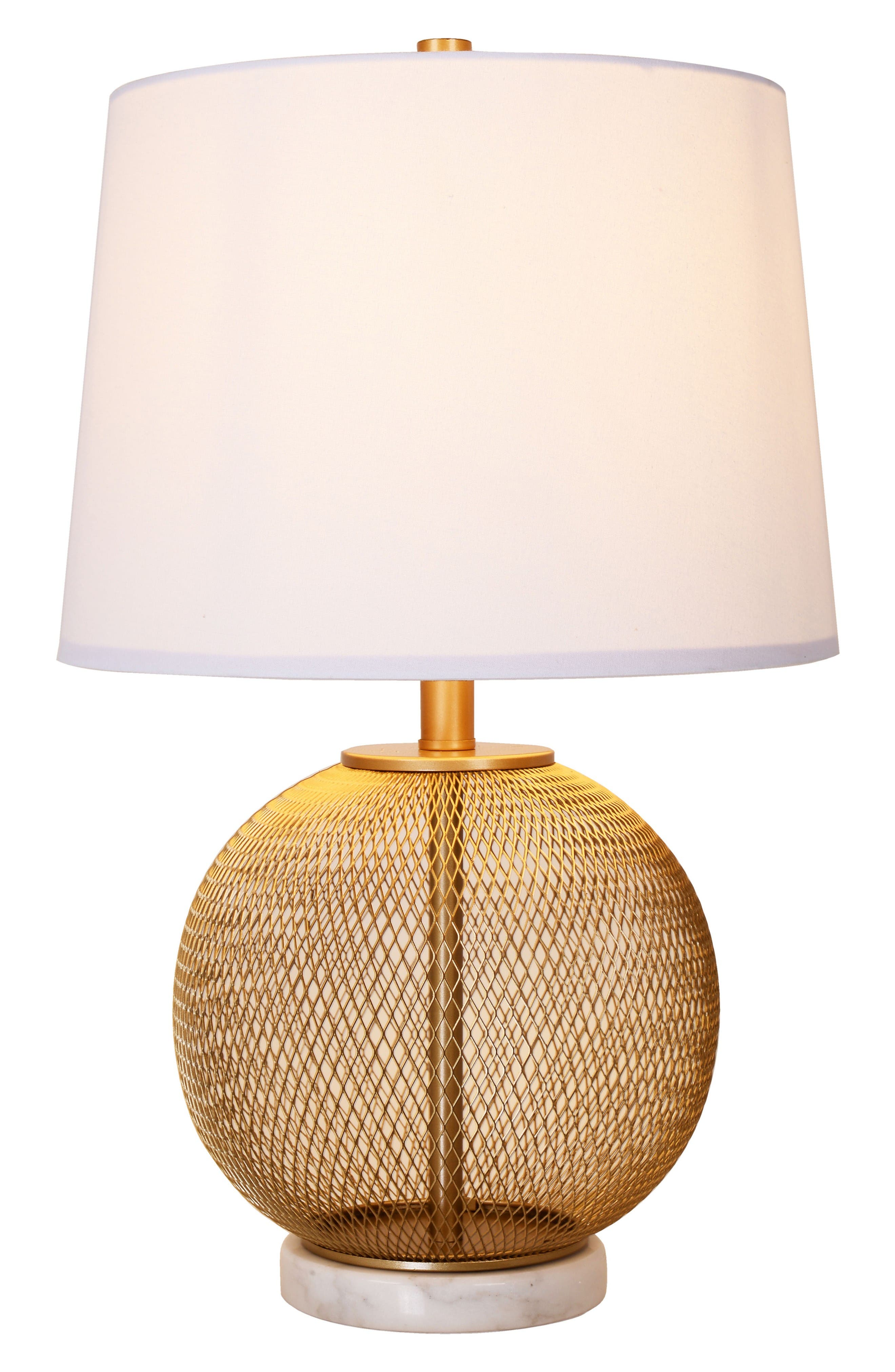 cupcakes & cashmere Mesh & Marble Table Lamp
