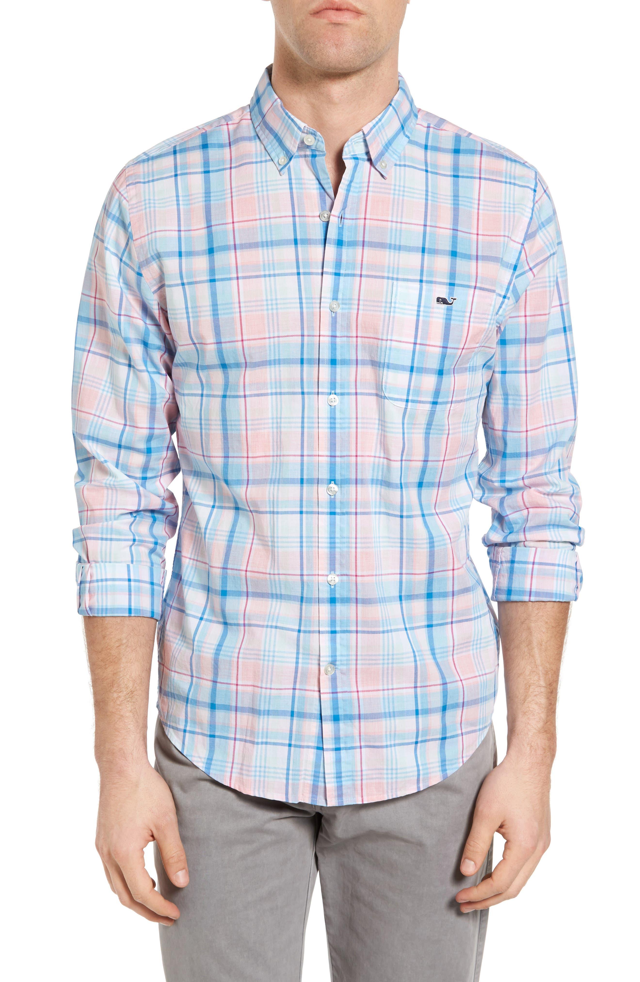Main Image - Vineyard Vines Sabab Rock Tucker Slim Fit Plaid Sport Shirt
