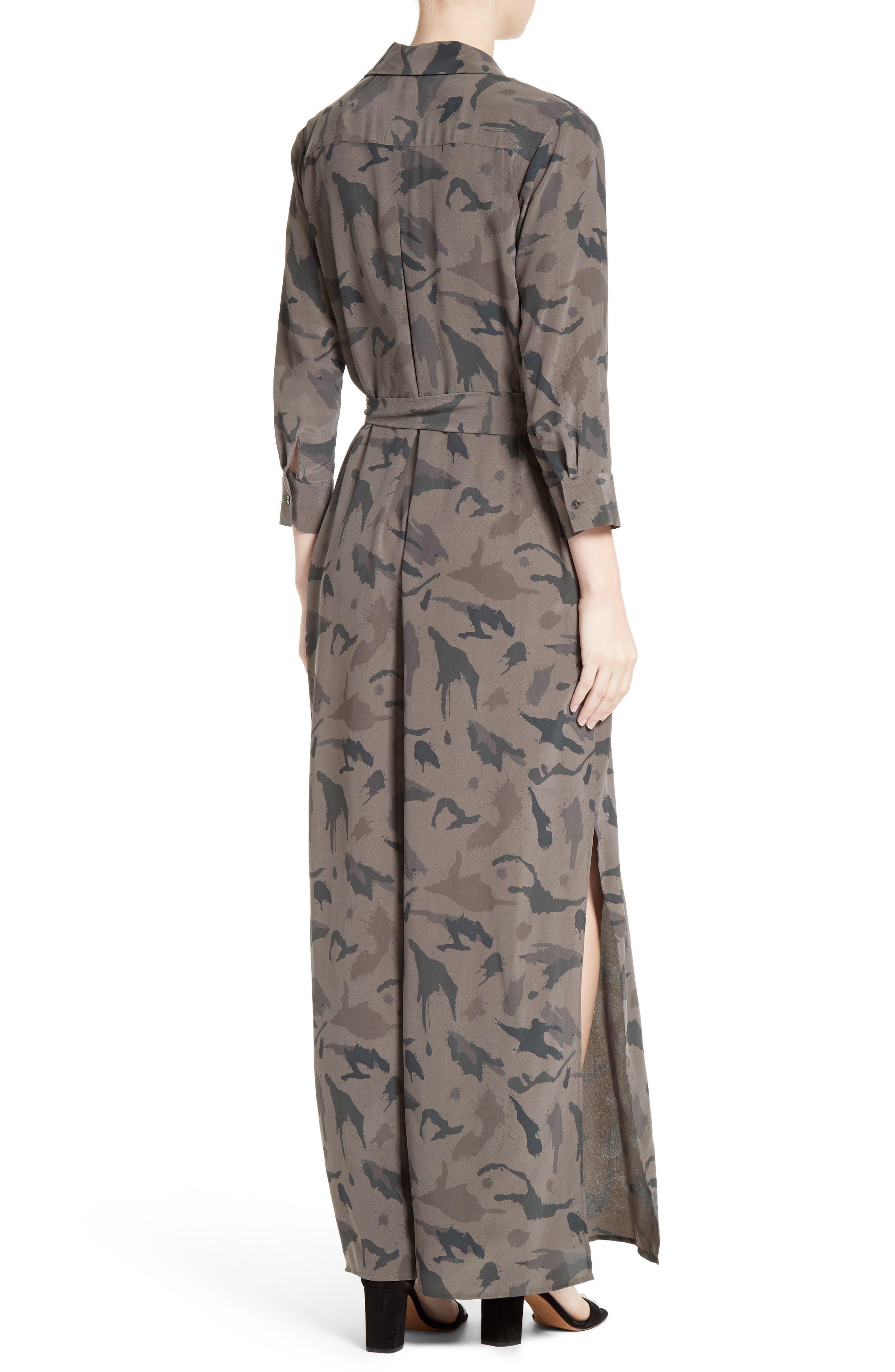 Alternate Image 2  - L'AGENCE Silk Maxi Shirtdress