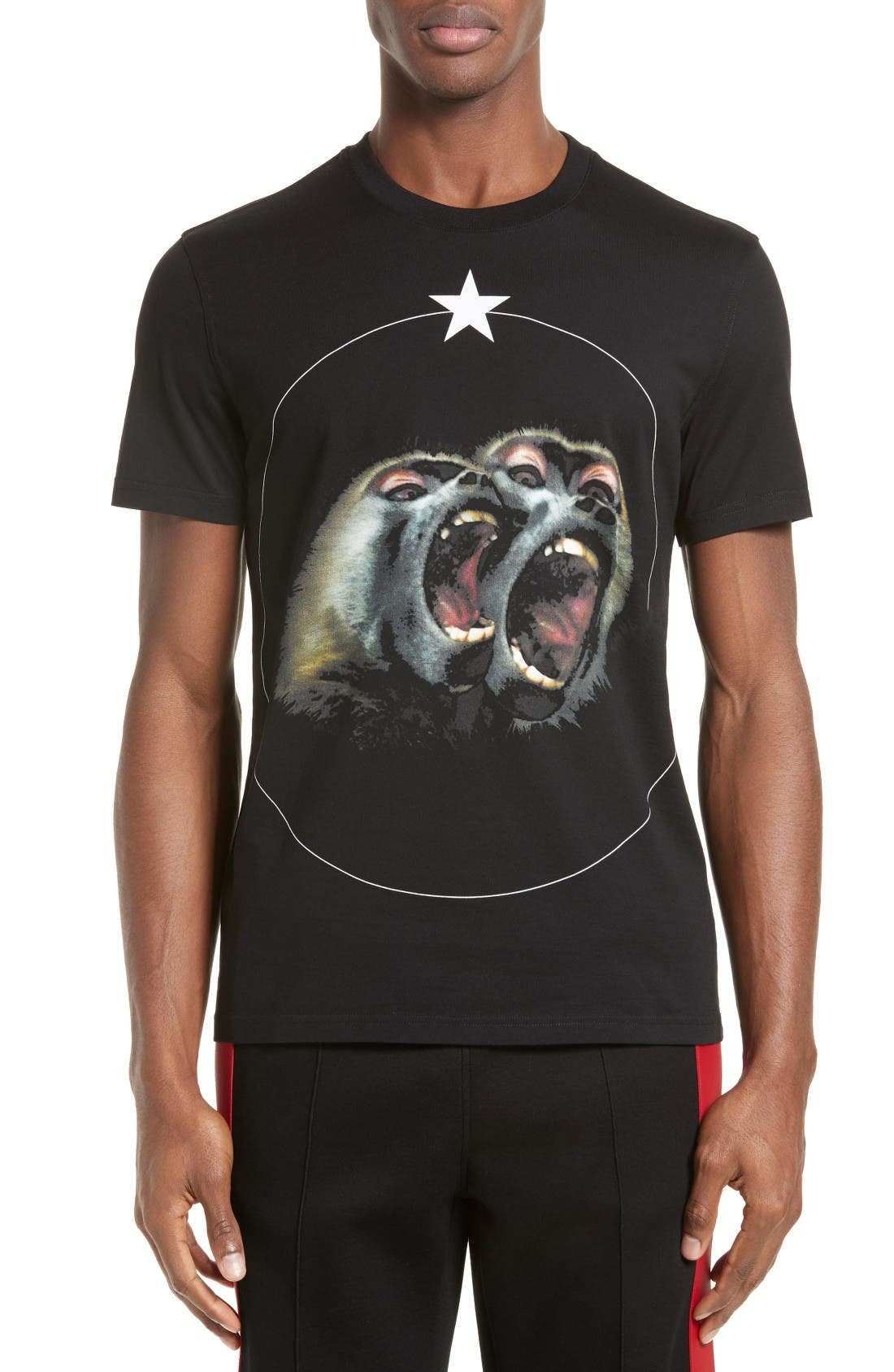 Givenchy Monkey Brothers Graphic T-Shirt